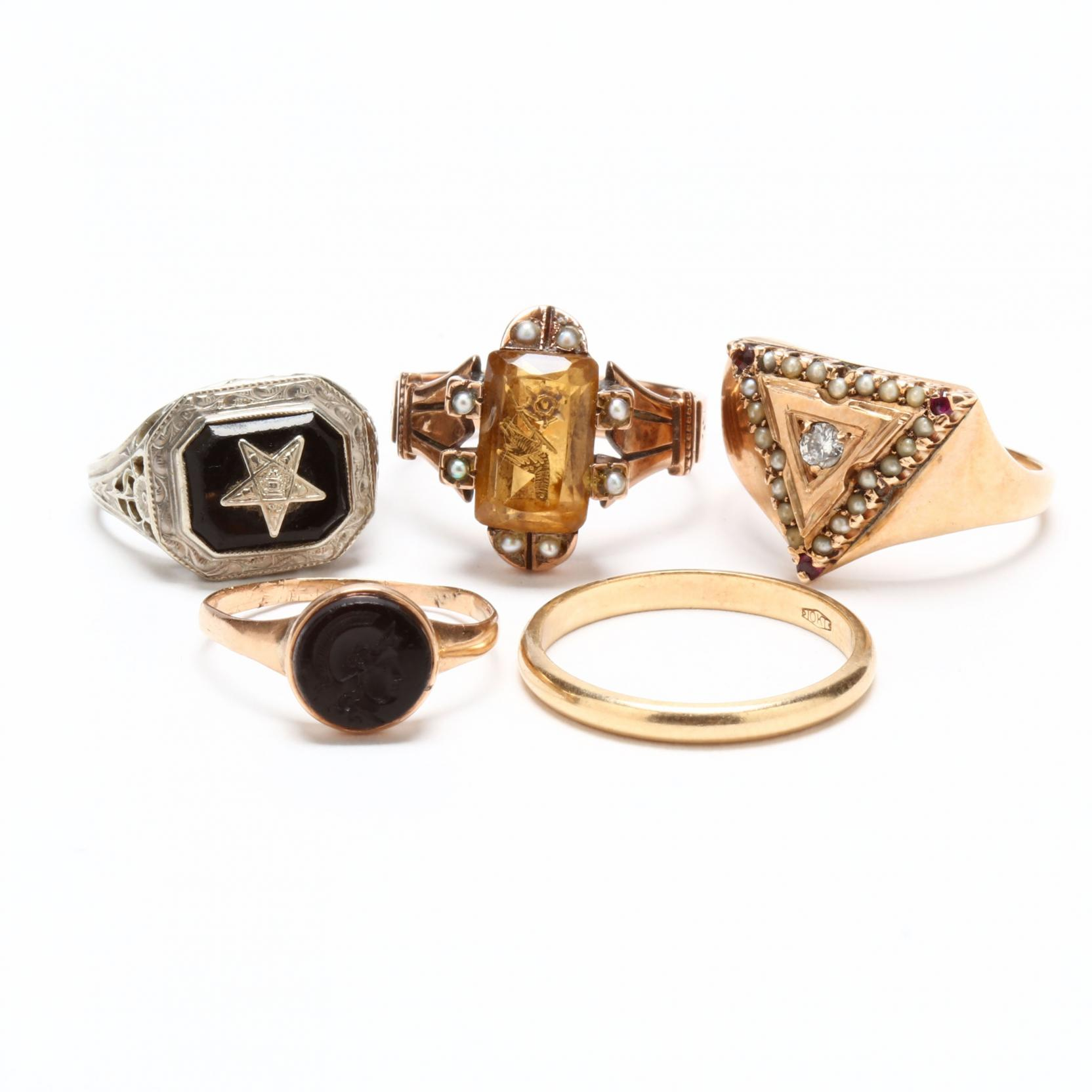 five-victorian-gold-rings