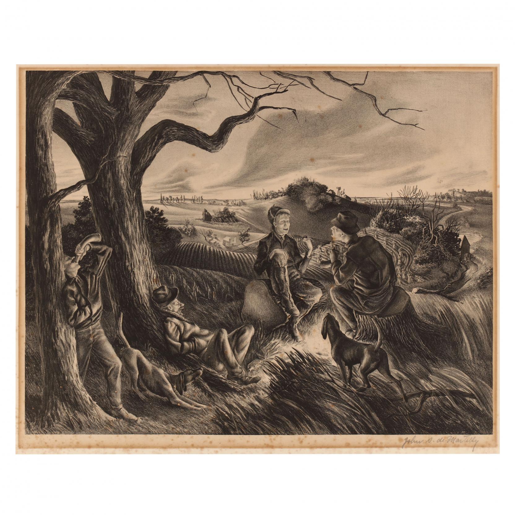 john-de-martelly-american-1903-1979-i-blue-valley-fox-hunt-i
