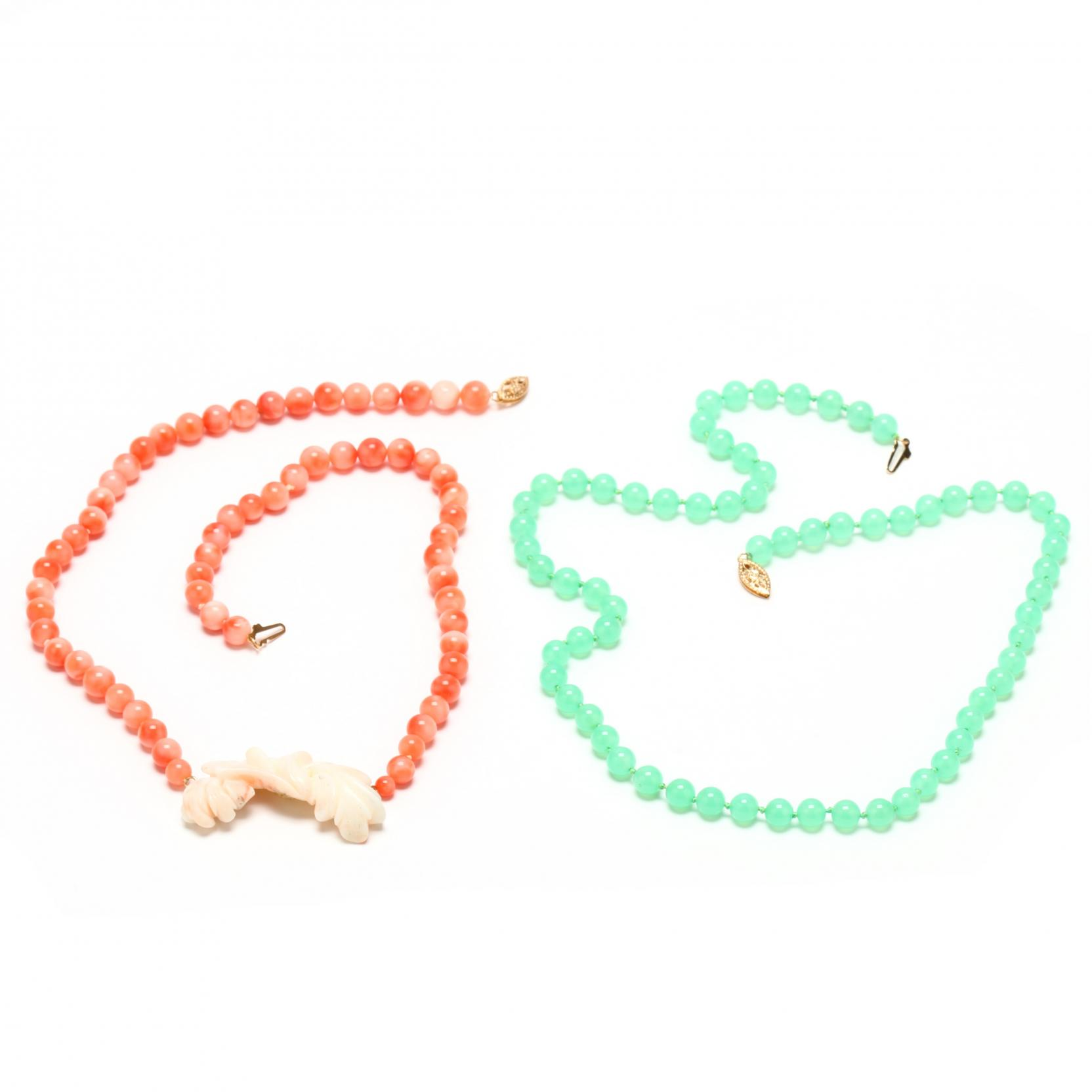 a-coral-necklace-and-jade-bead-necklace
