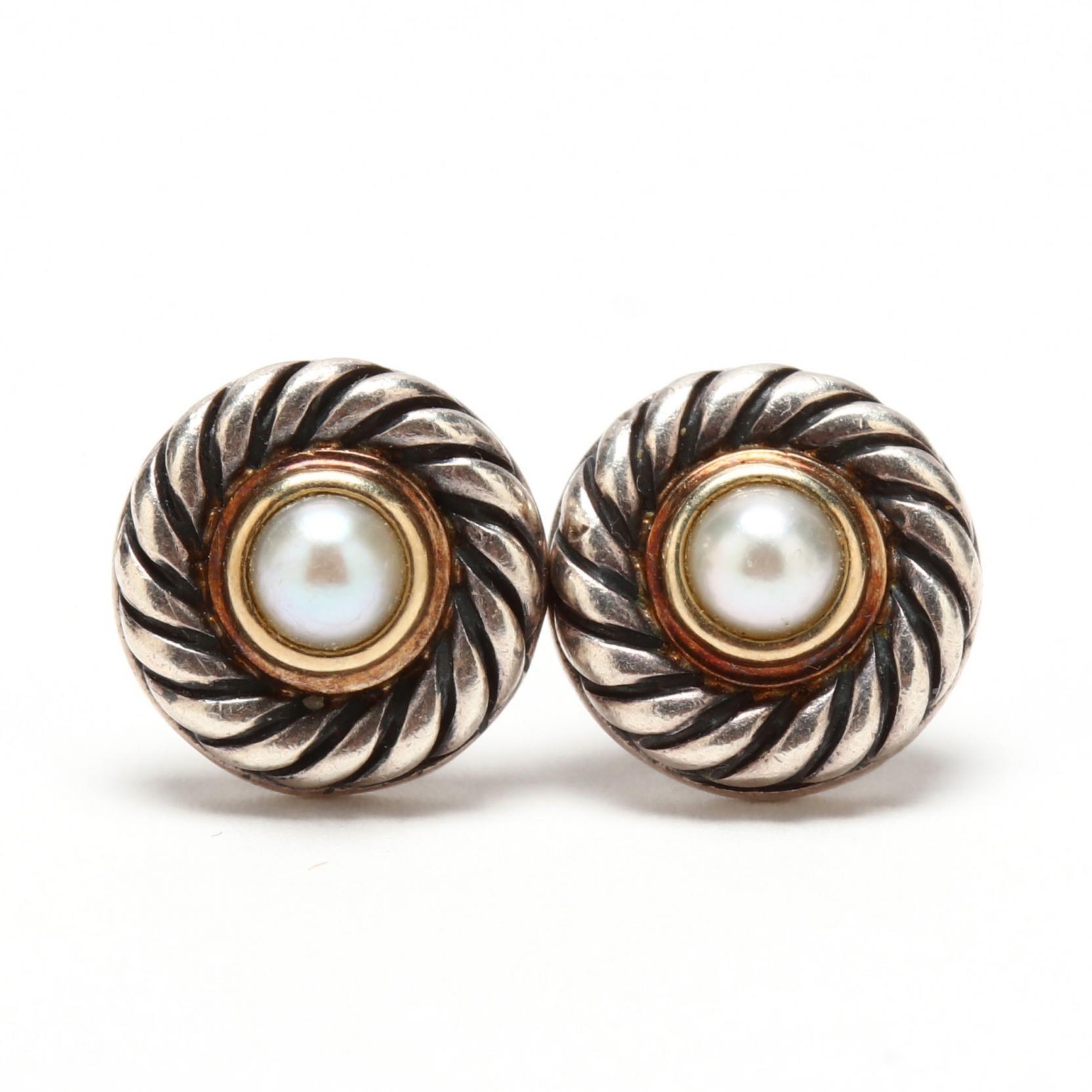 silver-14kt-gold-and-pearl-earrings-david-yurman