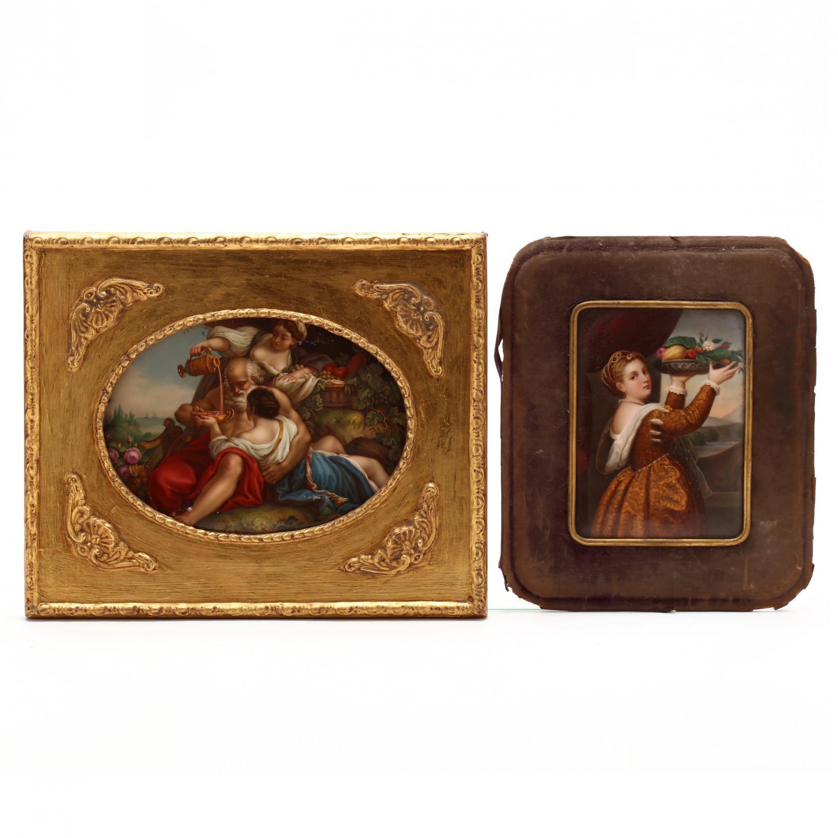 two-antique-continental-porcelain-plaques