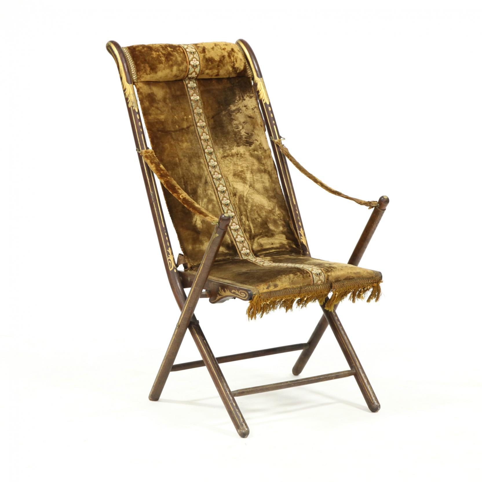 signed-french-gilt-decorated-campaign-arm-chair