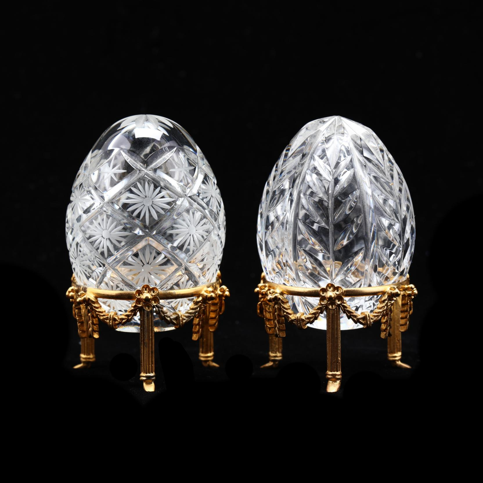 pair-of-crystal-faberge-petite-eggs-on-stands
