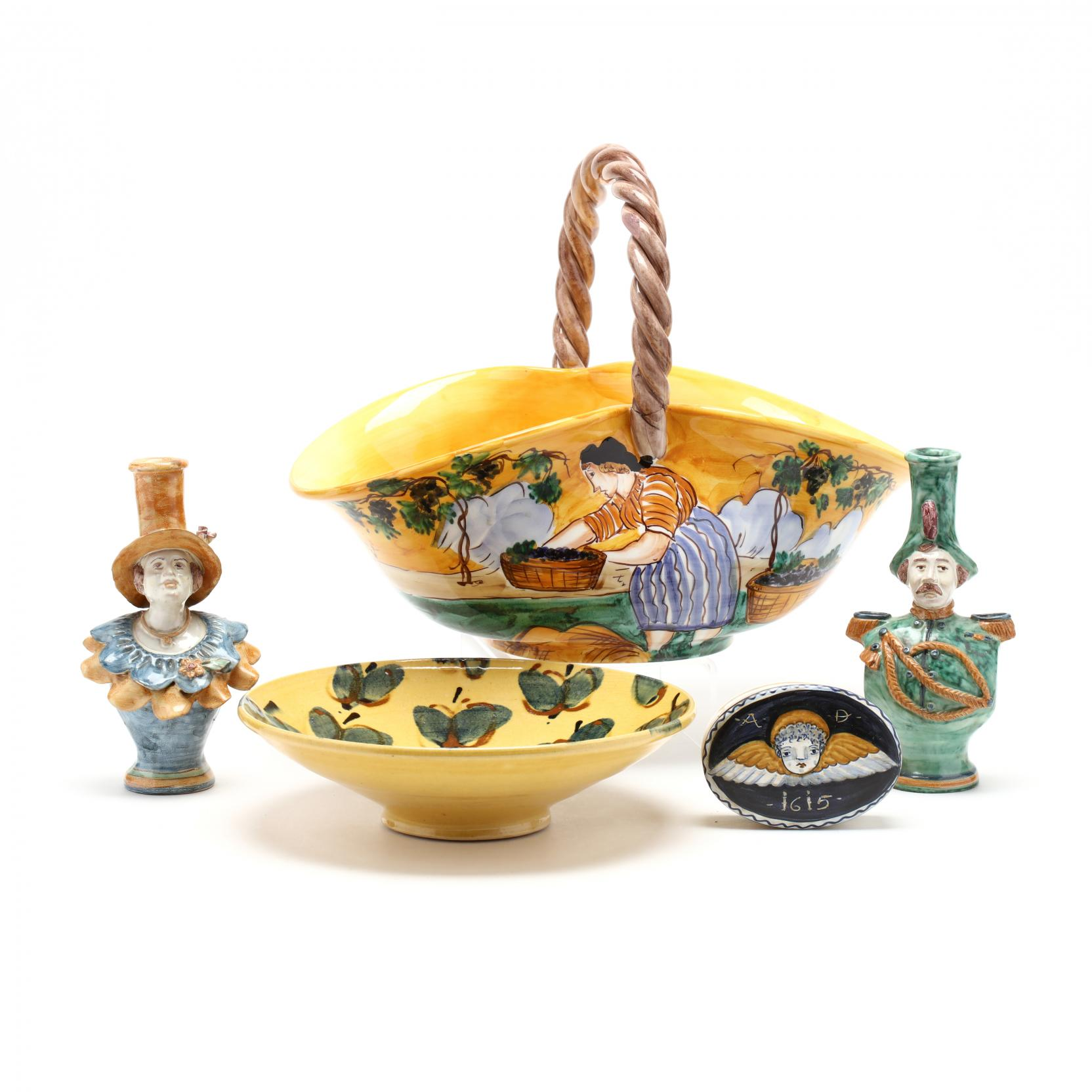 five-pieces-of-faience-glazed-objects