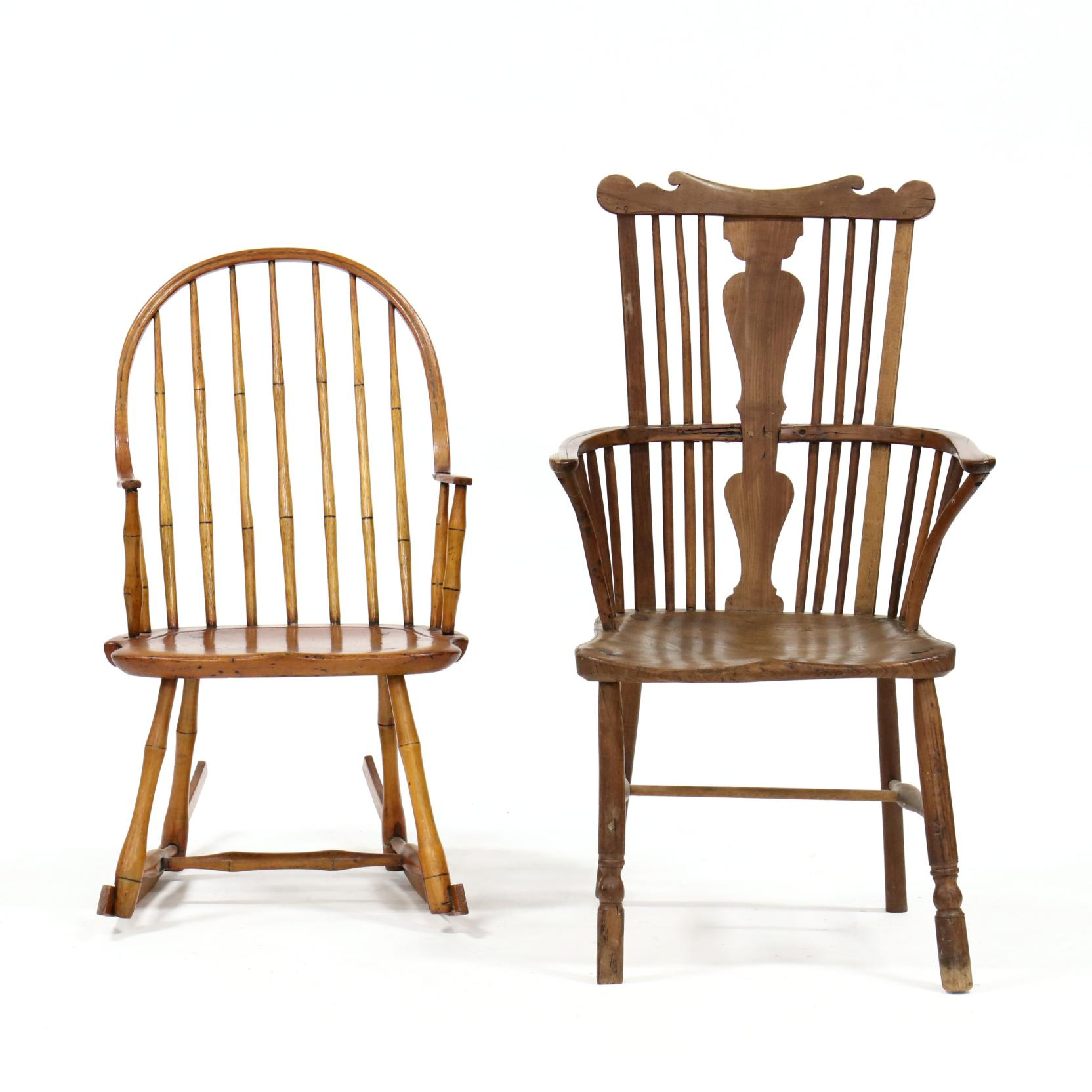two-antique-windsor-chairs