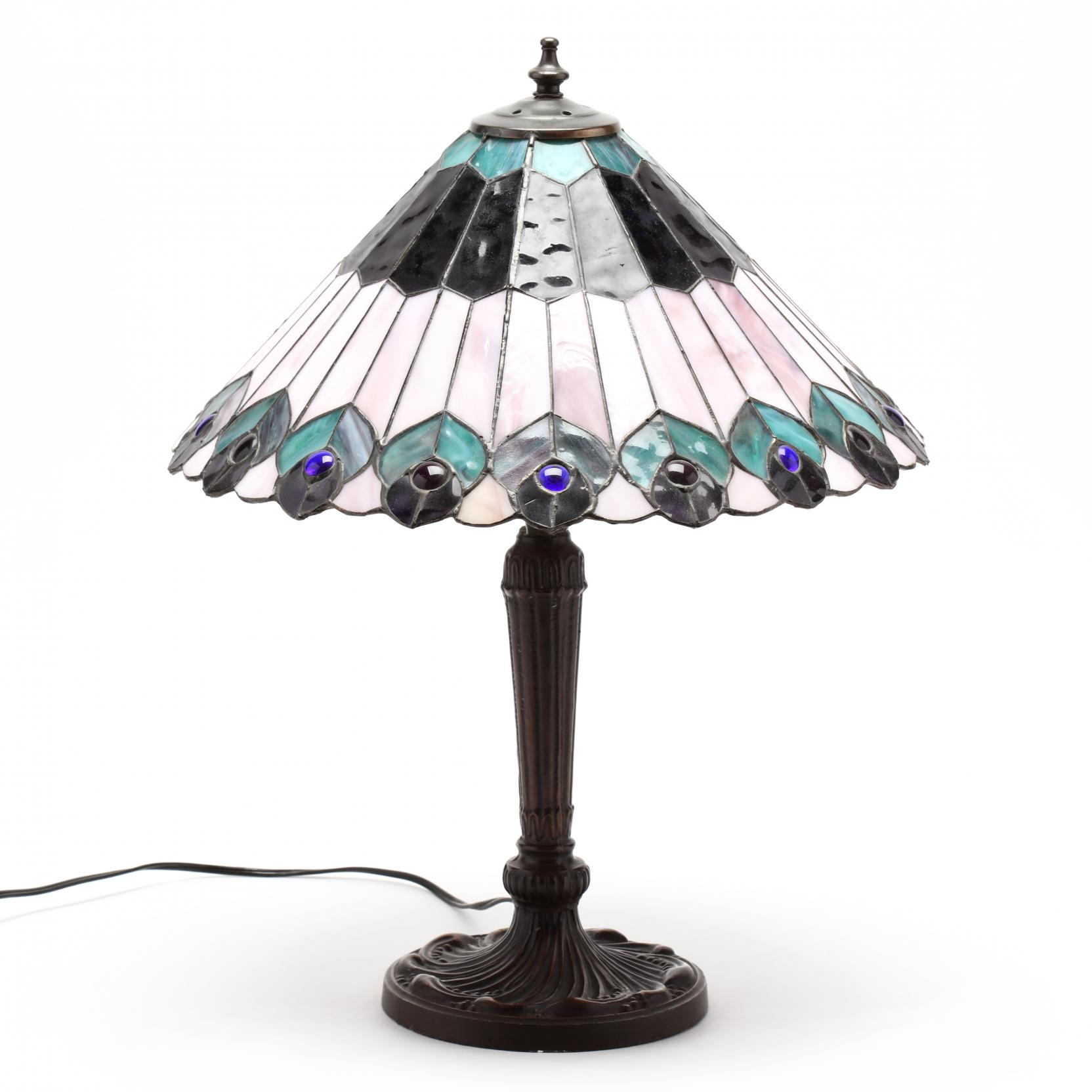 contemporary-stained-glass-peacock-lamp