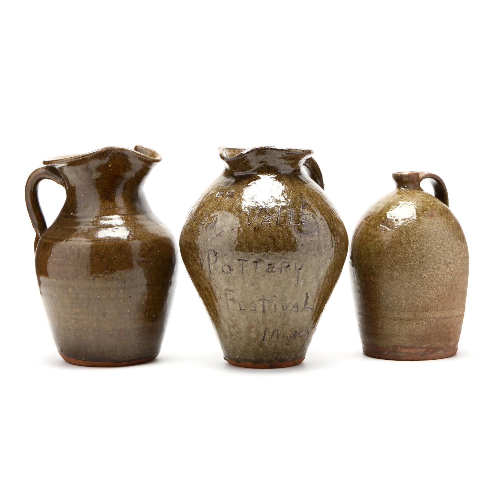 three-alkaline-glazed-one-gallon-vessels