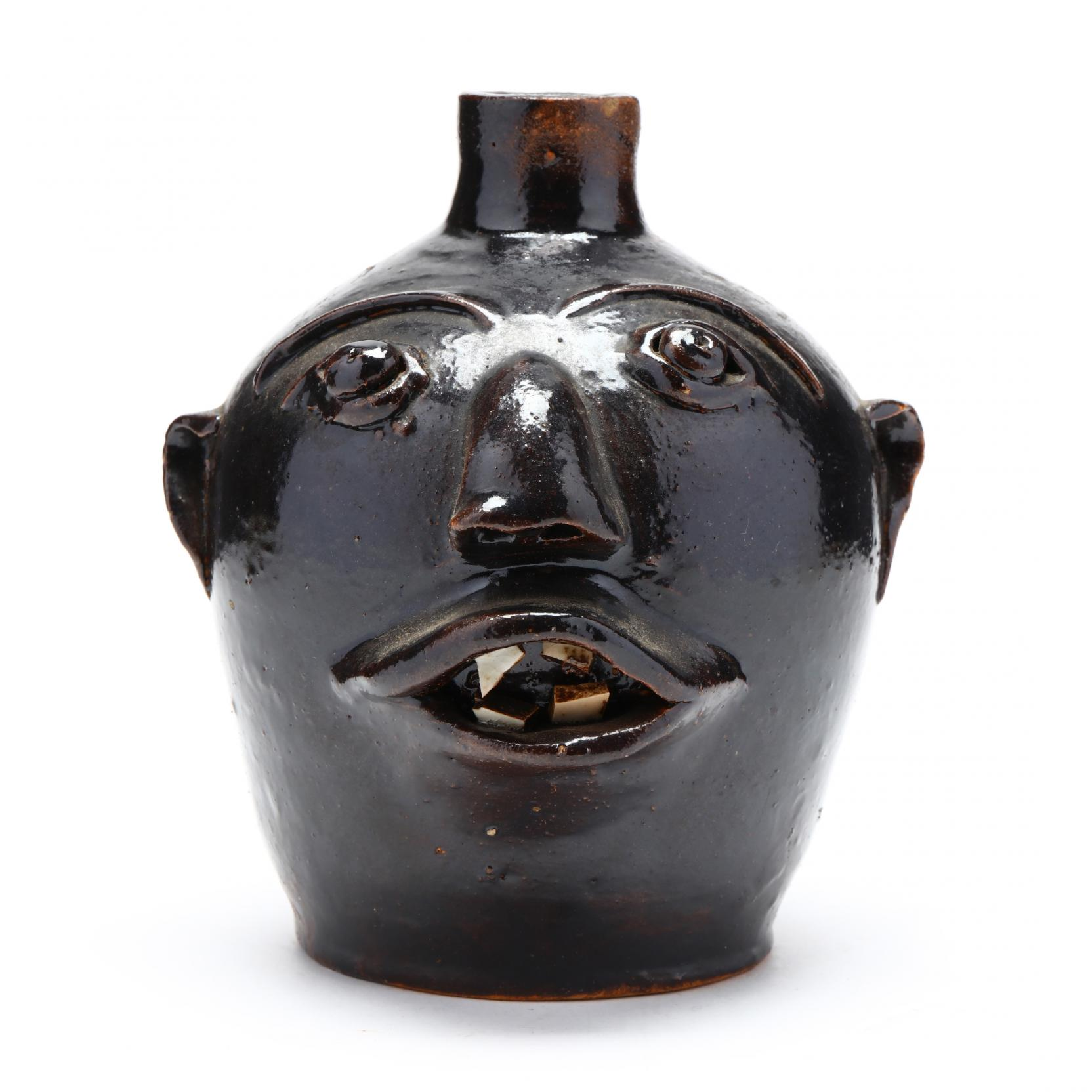 western-nc-folk-art-brown-pottery-face-jug
