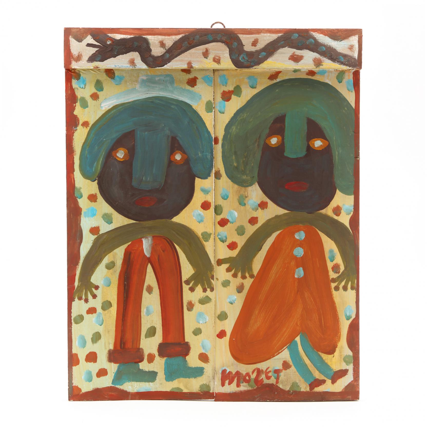 folk-art-painting-mose-tolliver-al-1920-2006-happy-couple