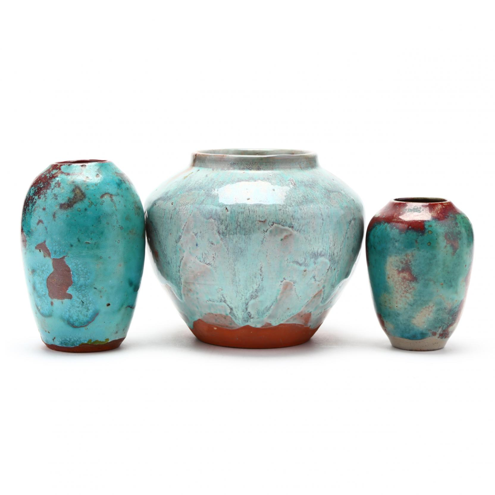 nc-pottery-three-jugtown-vases