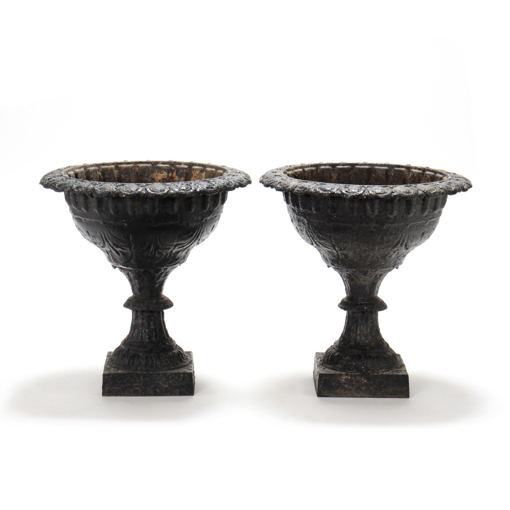 pair-of-victorian-classical-style-cast-iron-garden-urns