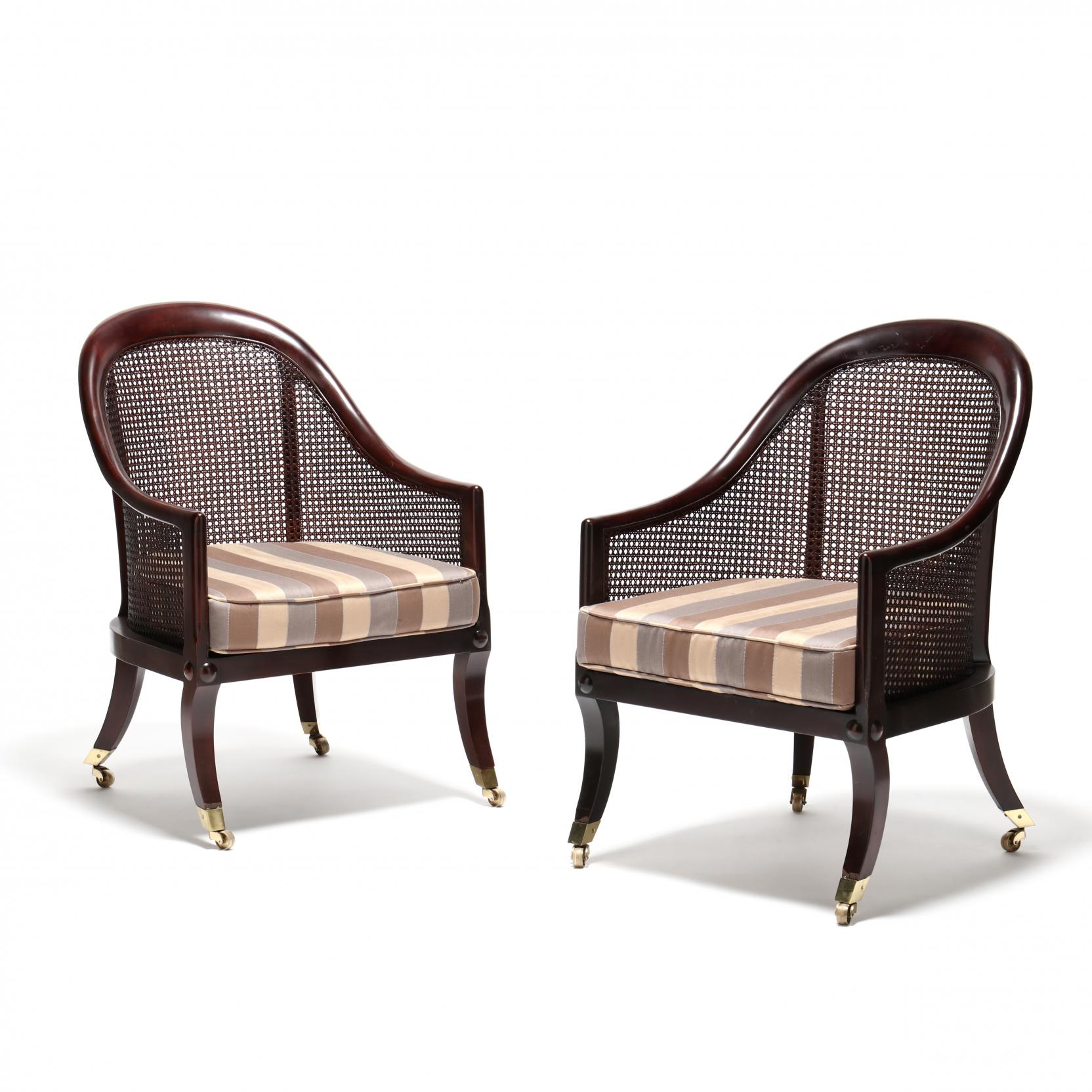 baker-pair-of-regency-style-caned-back-chairs