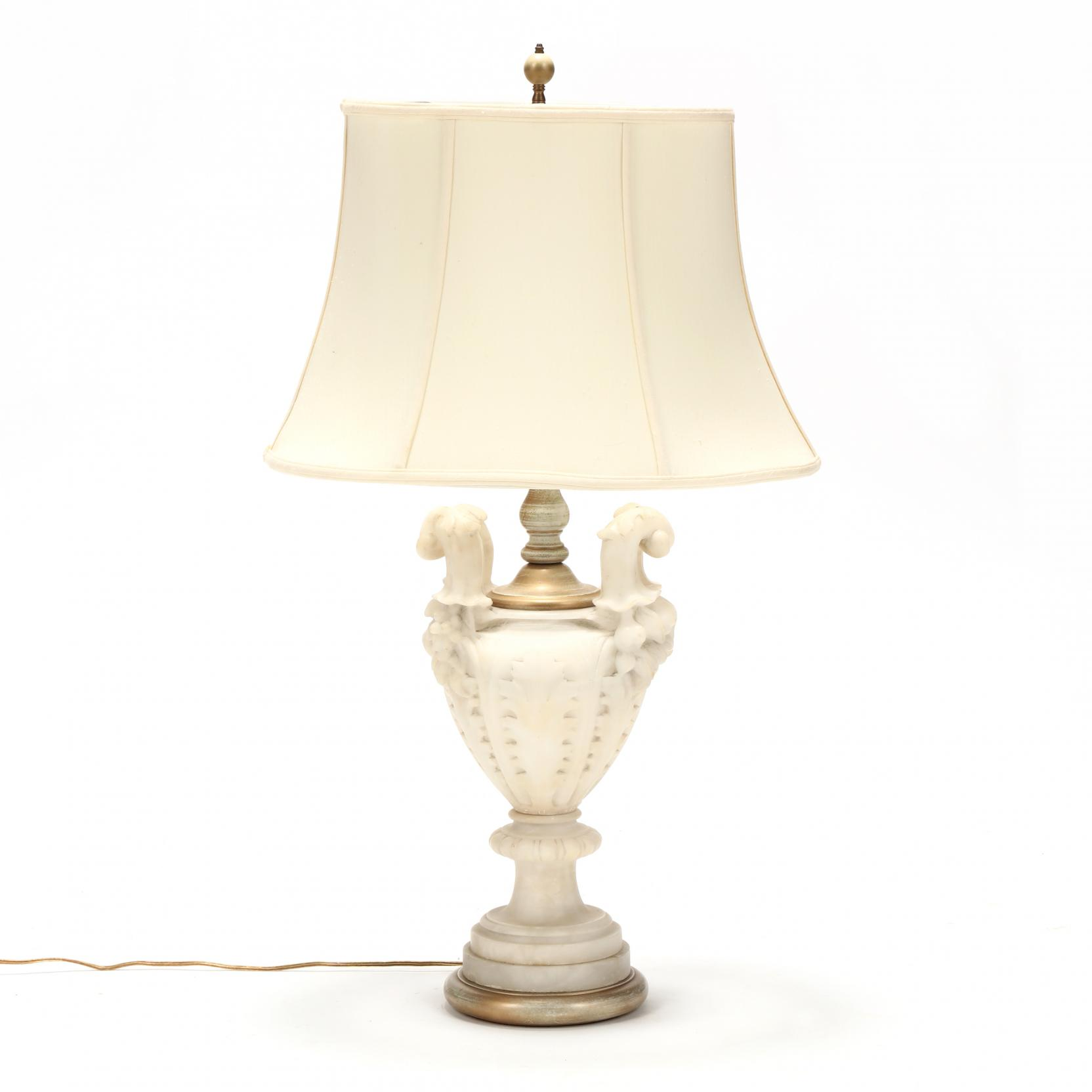 classical-style-carved-alabaster-urn-form-table-lamp