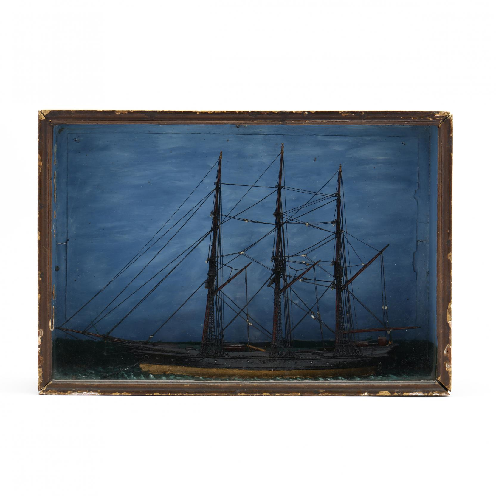 nautical-diorama-of-a-full-rigged-ship