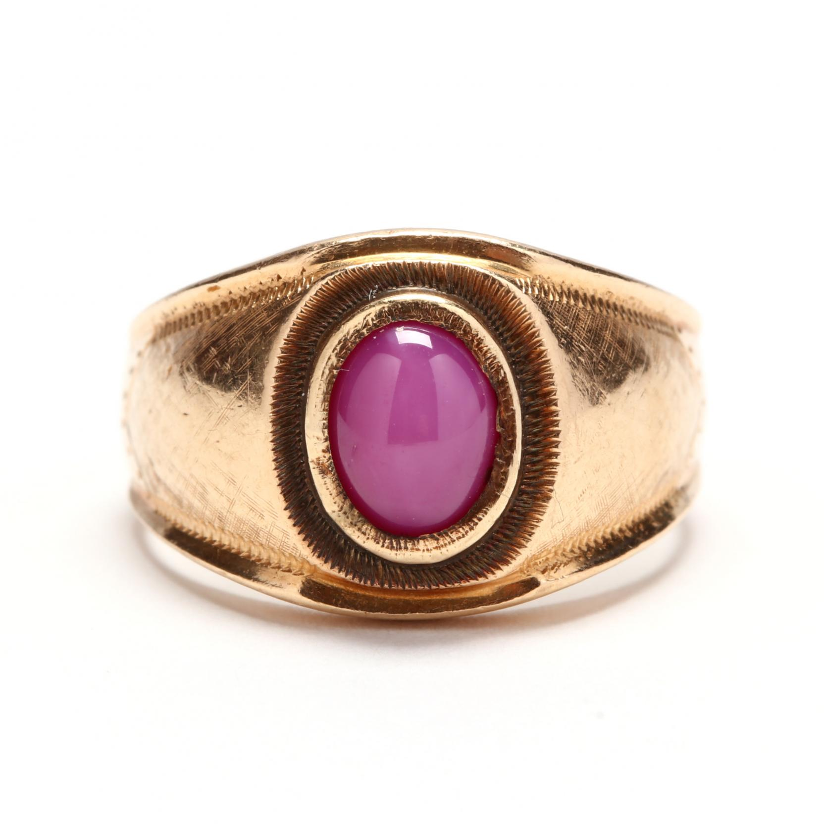 vintage-14kt-gold-and-synthetic-star-ruby-ring