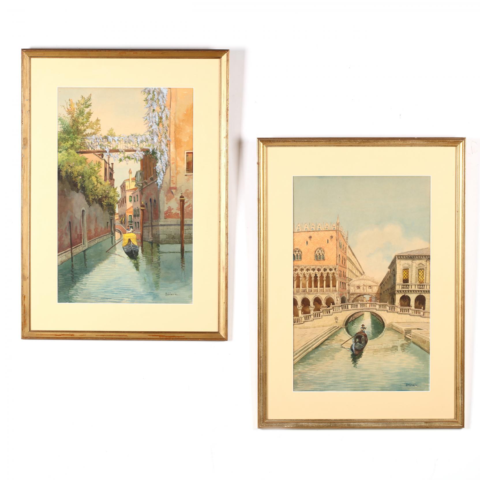 a-pair-of-vintage-venetian-watercolors