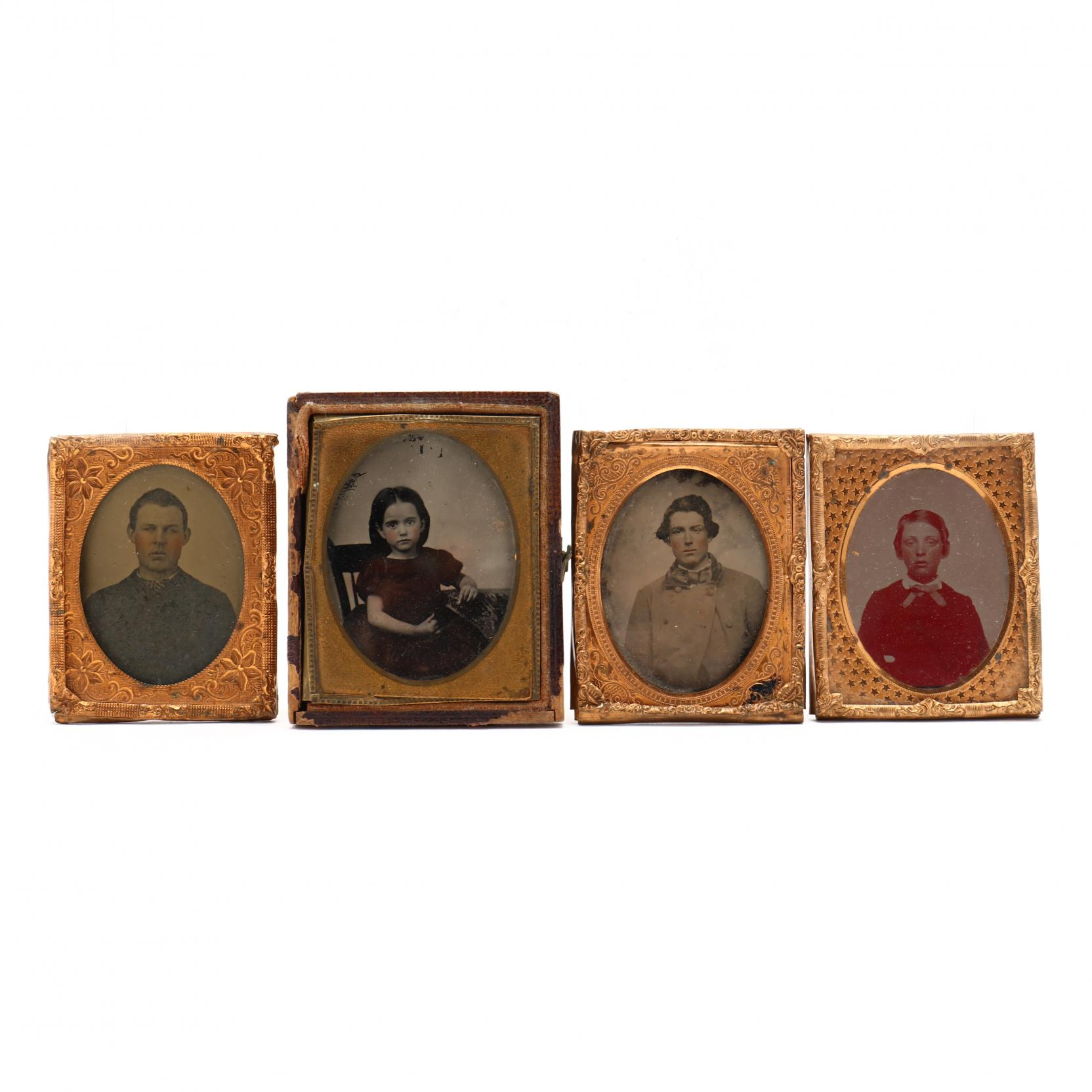 four-ninth-plate-ambrotypes-one-possibly-a-confederate-soldier