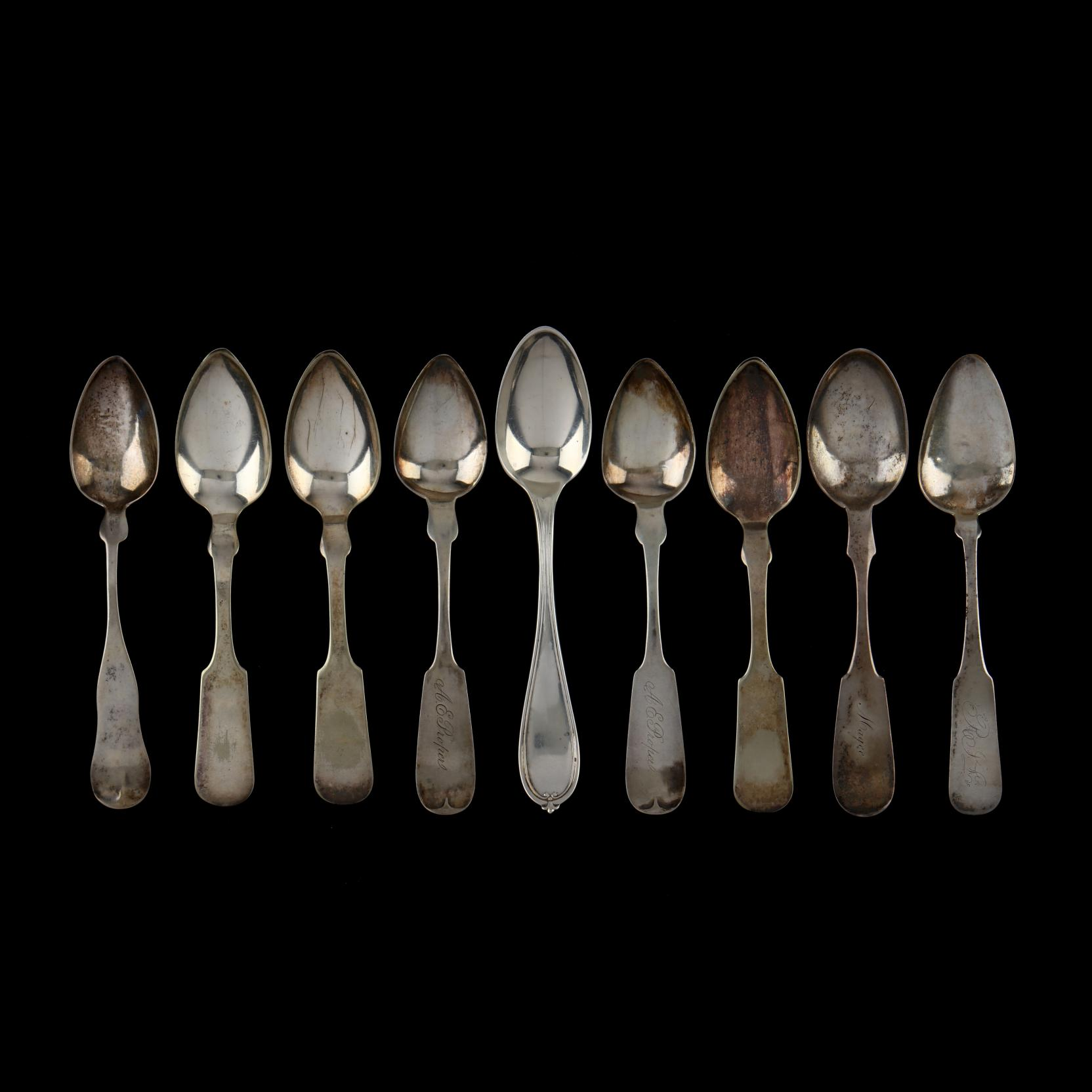 an-assembled-set-of-nine-american-coin-silver-teaspoons