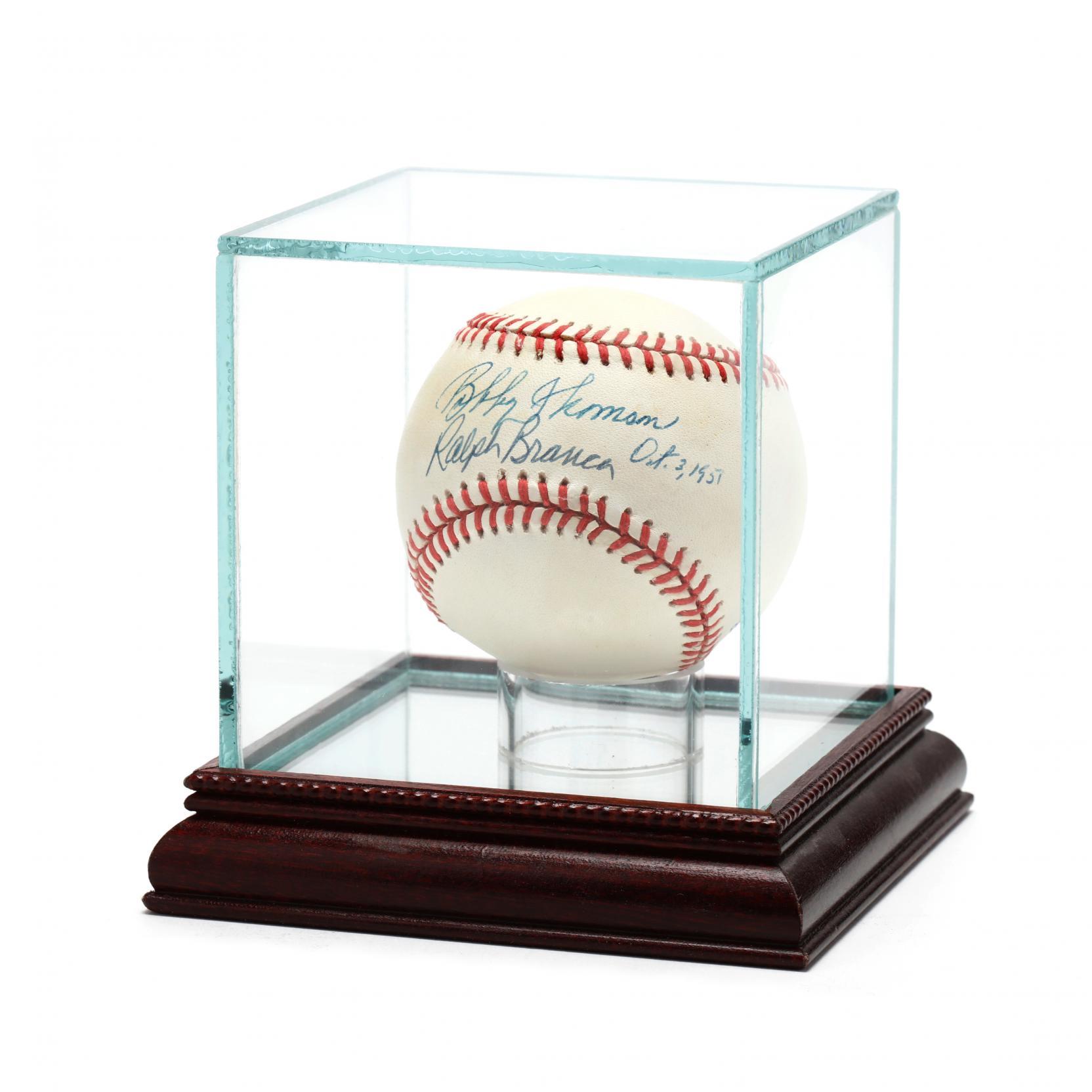 bobby-thomson-and-ralph-branca-autographed-baseball