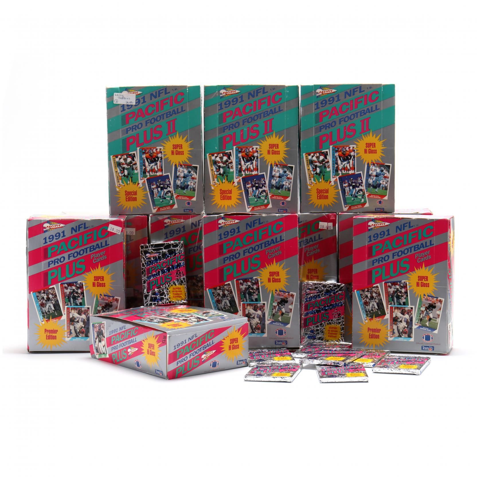 eleven-pacific-plus-1991-pro-football-card-boxes