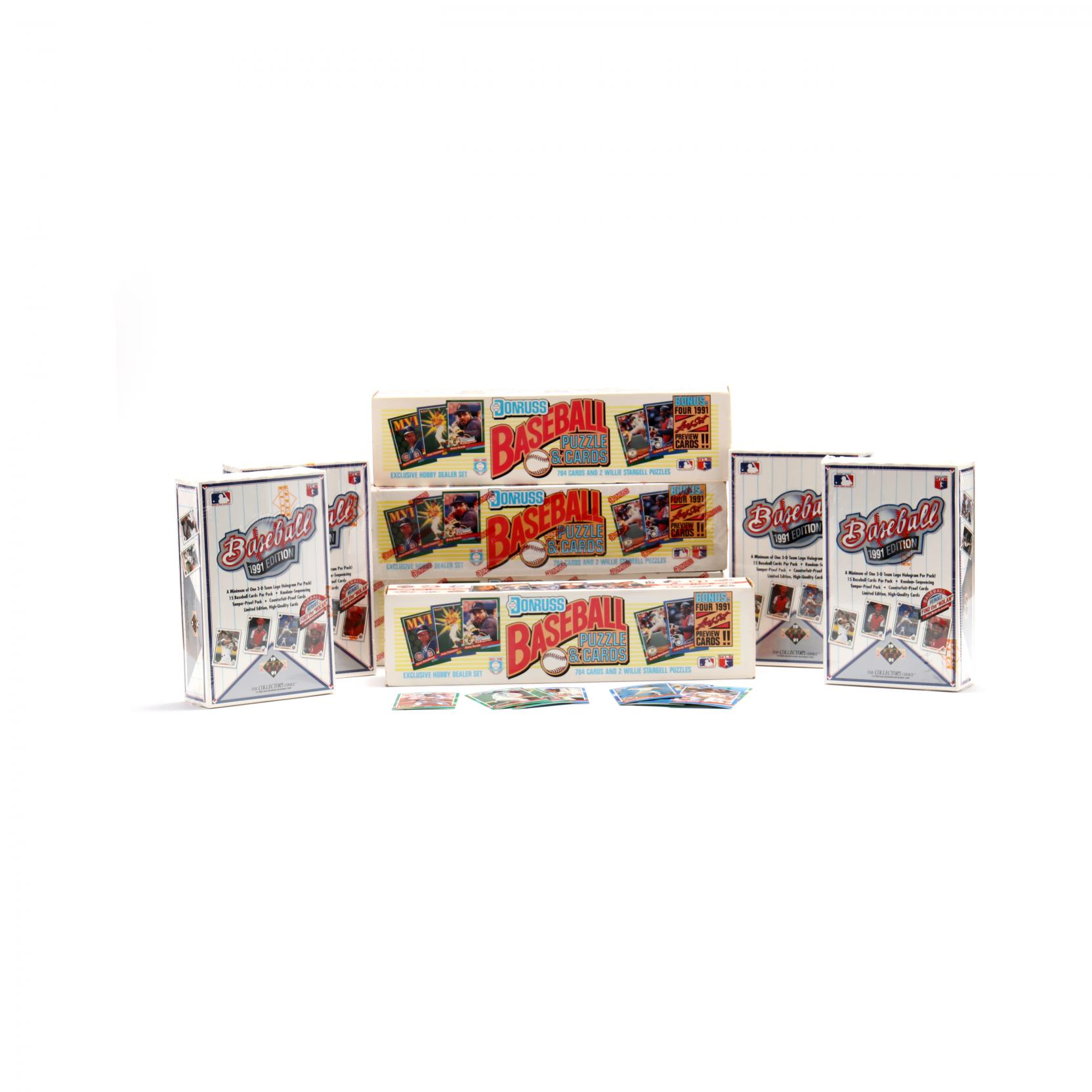 eight-boxed-sets-of-1991-baseball-cards