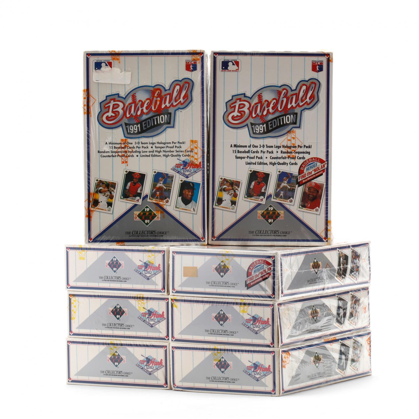 eight-boxes-upper-deck-1991-edition-baseball-cards