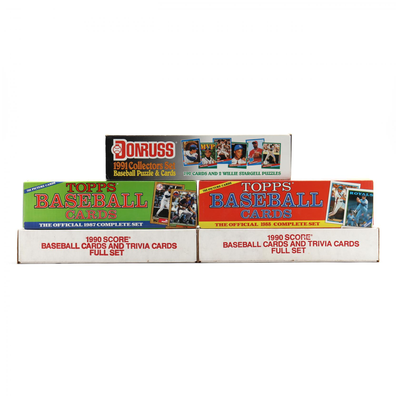 five-1980-90s-boxed-baseball-cards-by-topps-donruss-and-score