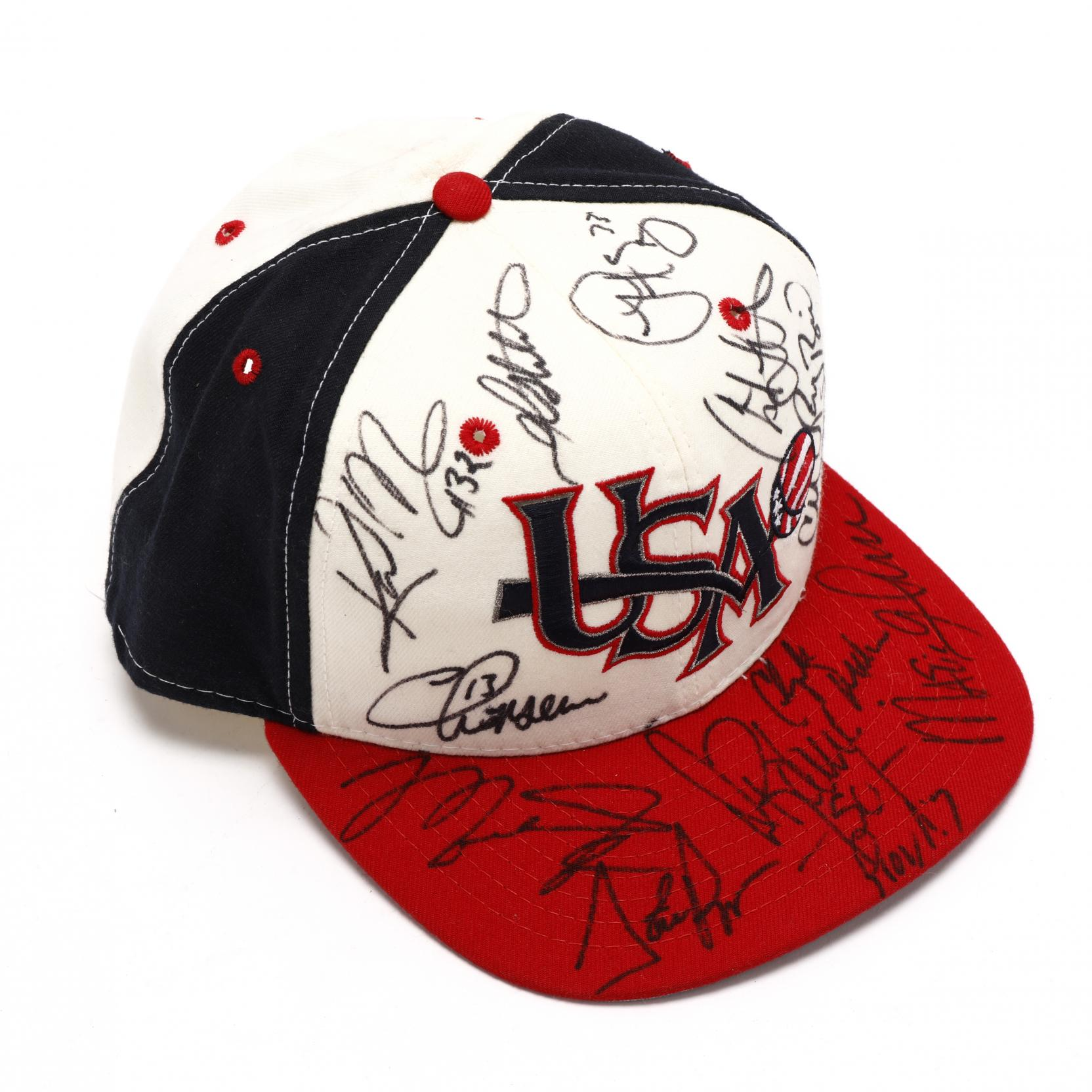 usa-1992-olympic-basketball-team-cap-signed-jordan-drexler-pippen