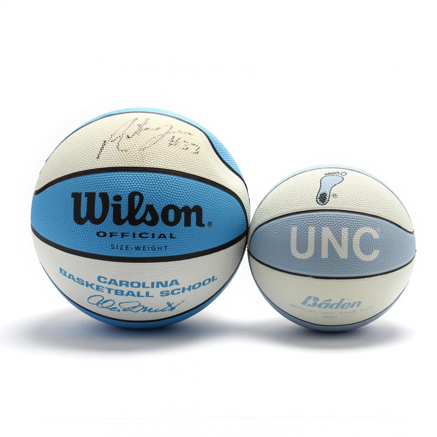 two-signed-wilson-and-baden-unc-basketballs