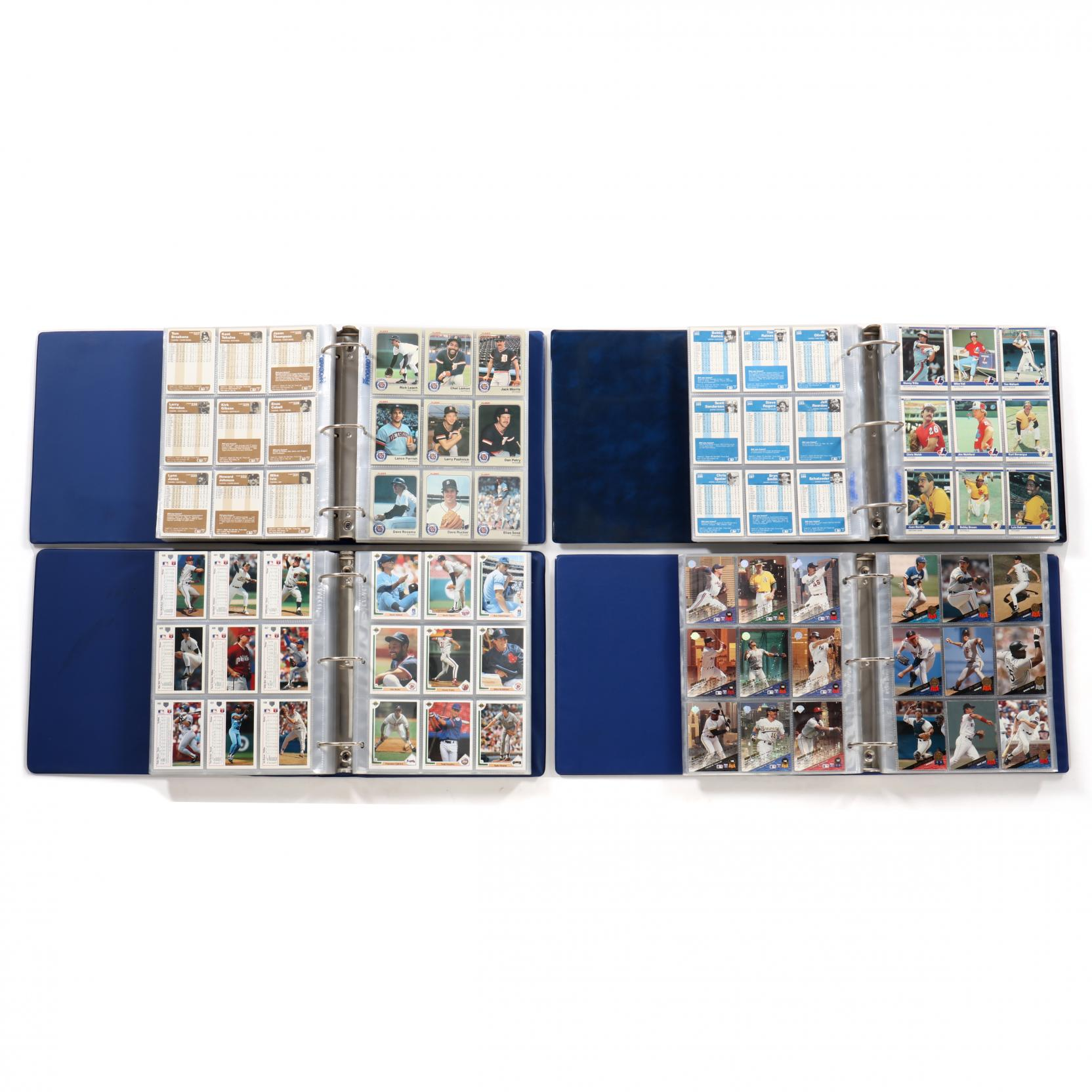 four-baseball-card-albums-1983-1984-1991-and-1993