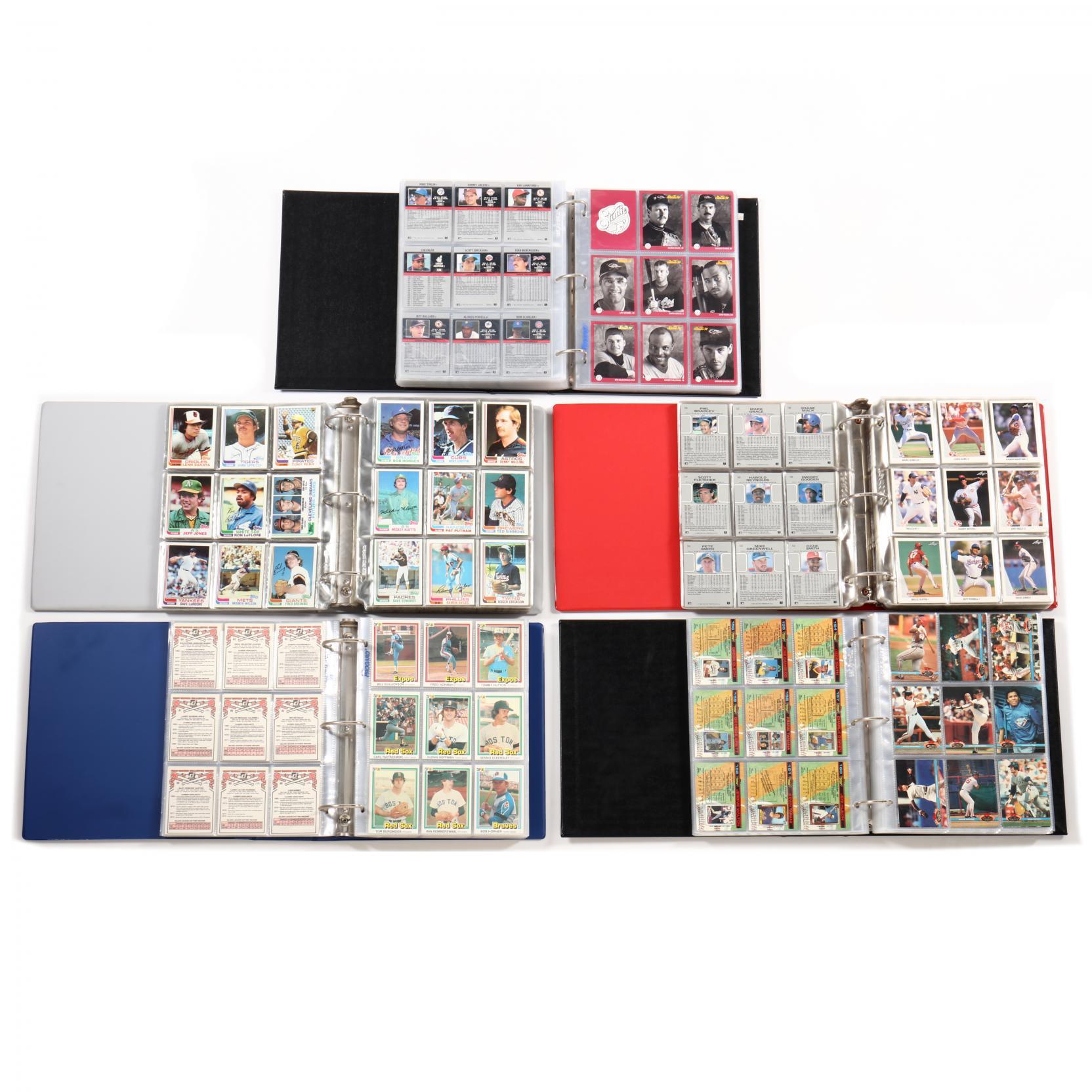 five-baseball-card-albums-1981-82-and-1990-91