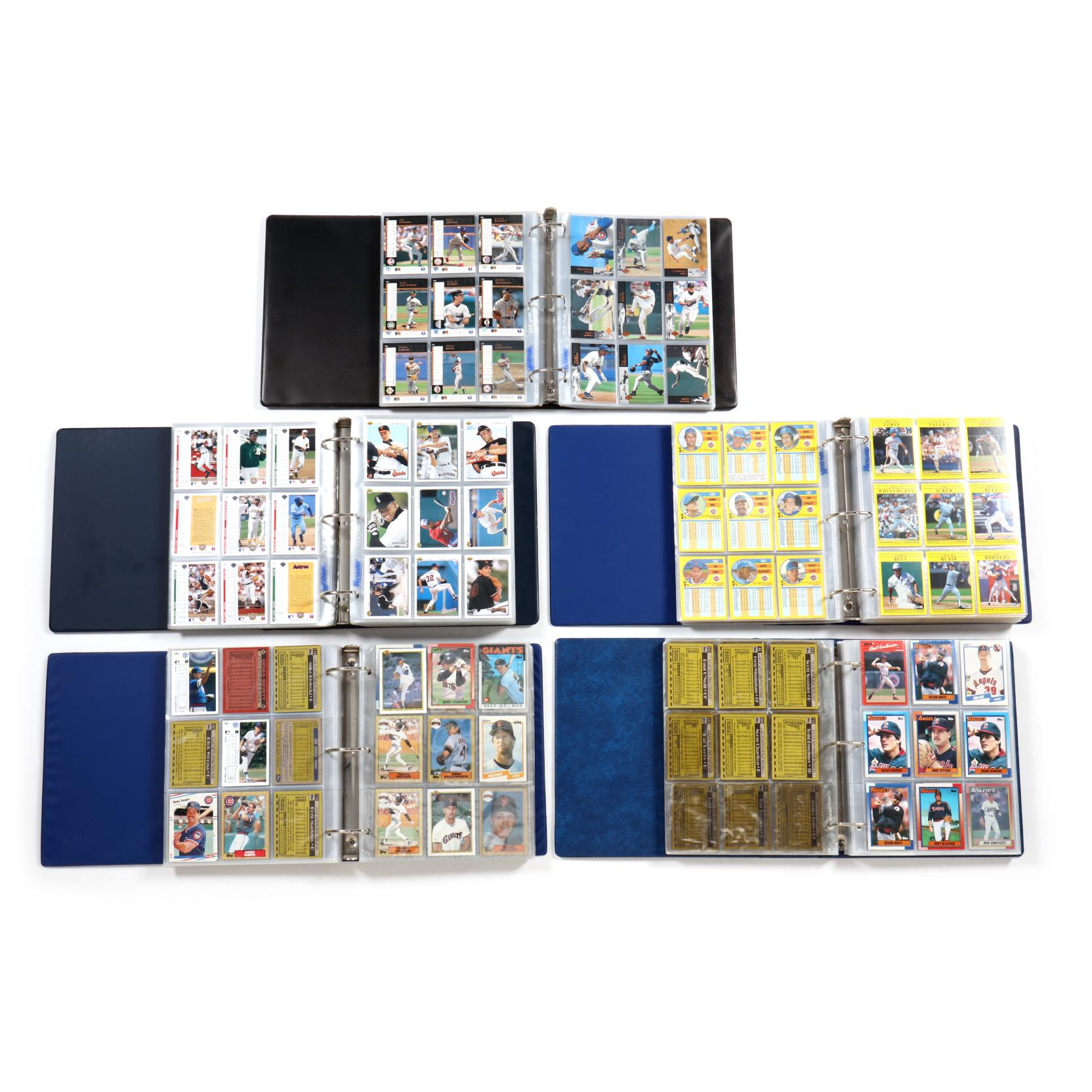 five-baseball-card-albums-1989-90-91-92-94