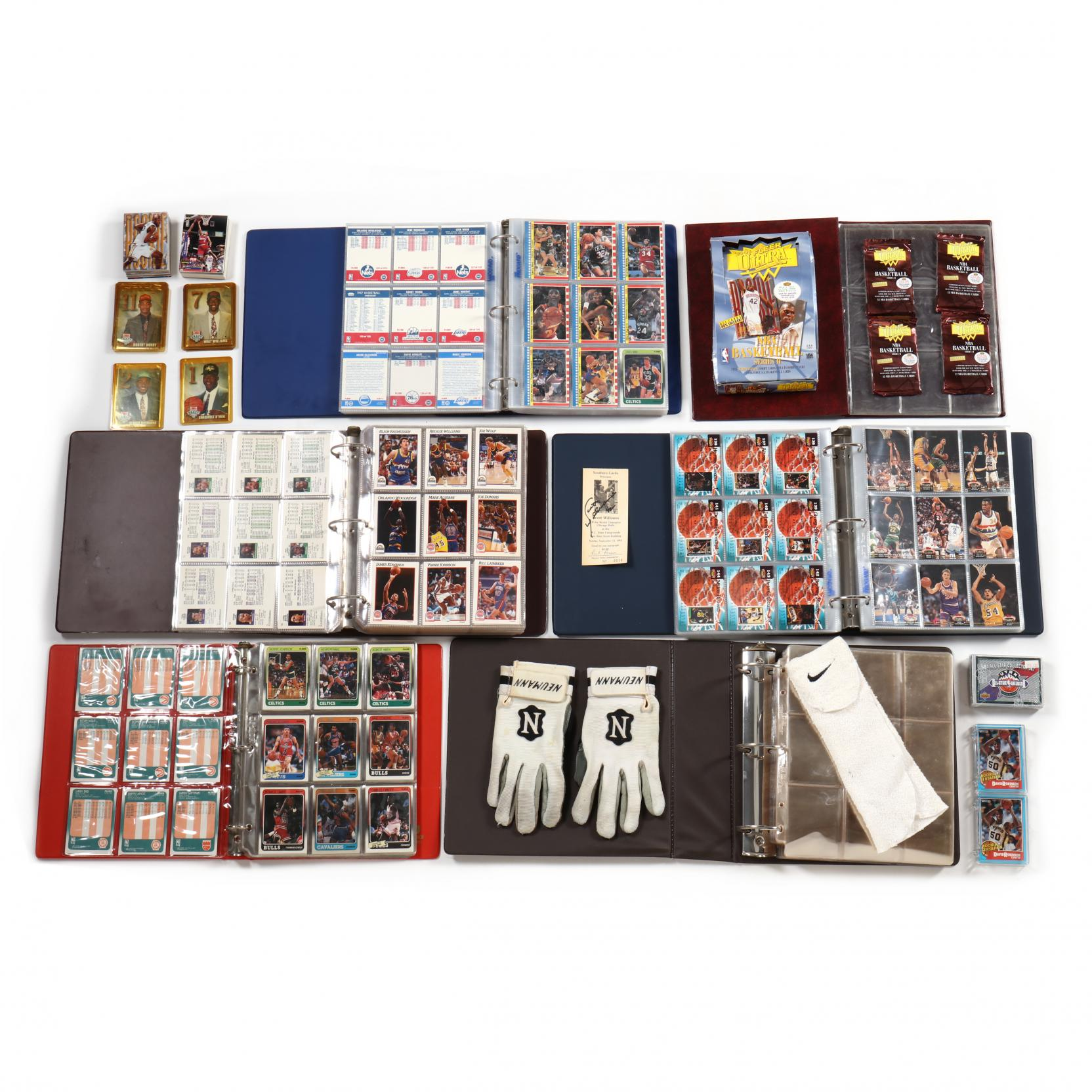 four-nba-basketball-collector-card-albums-plus-additons