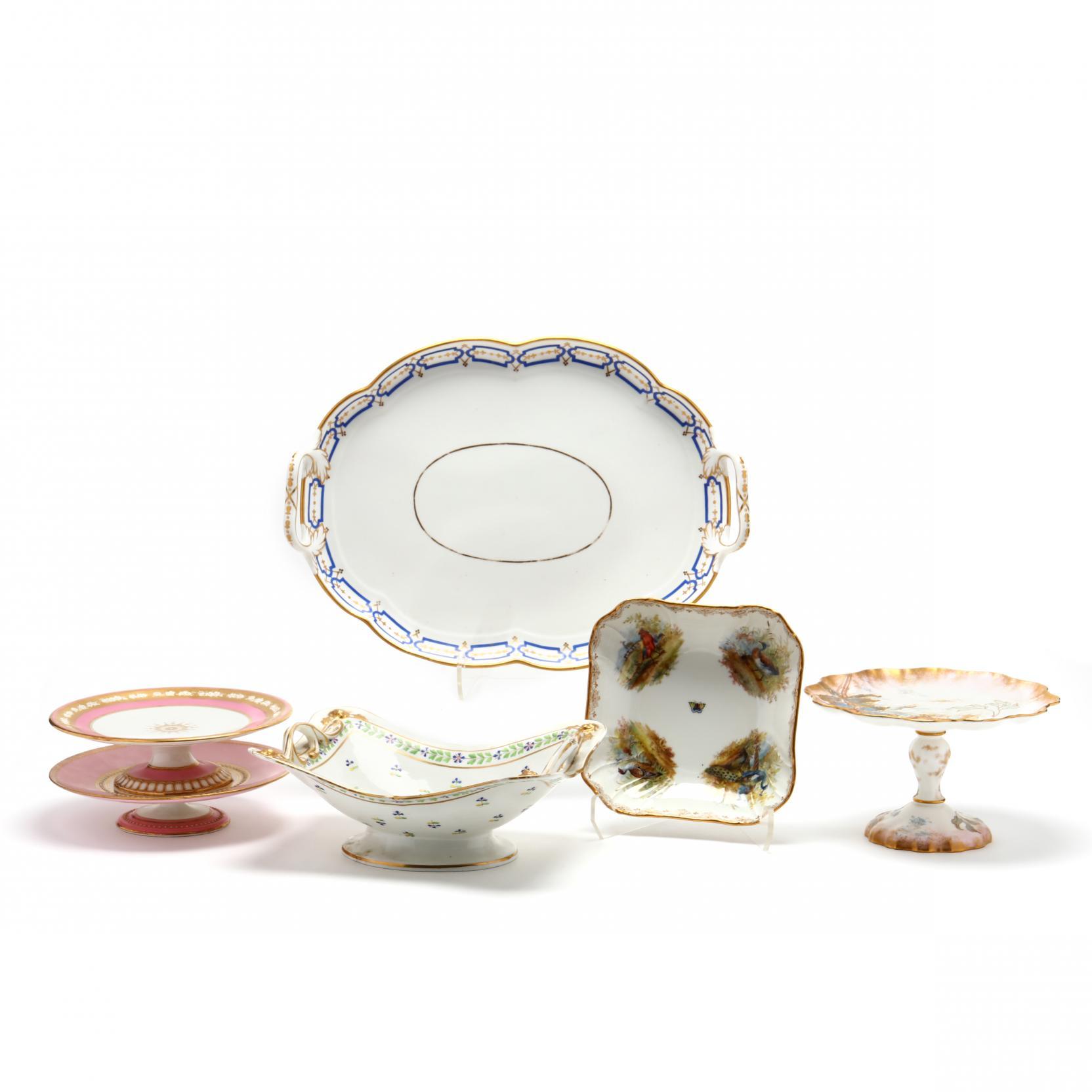 a-selection-of-elaborate-antique-porcelain-serving-pieces