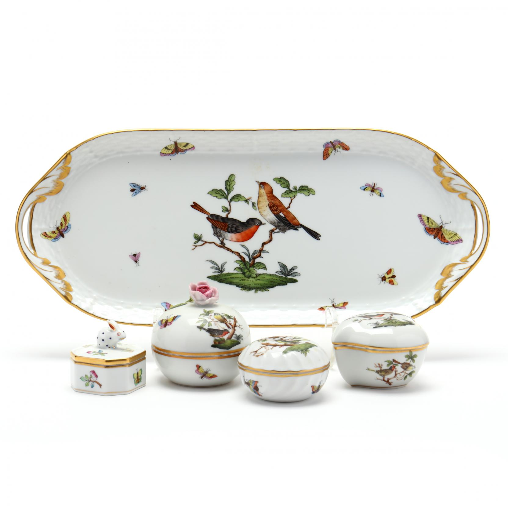 herend-rothschild-bird-dresser-tray-and-trinket-boxes