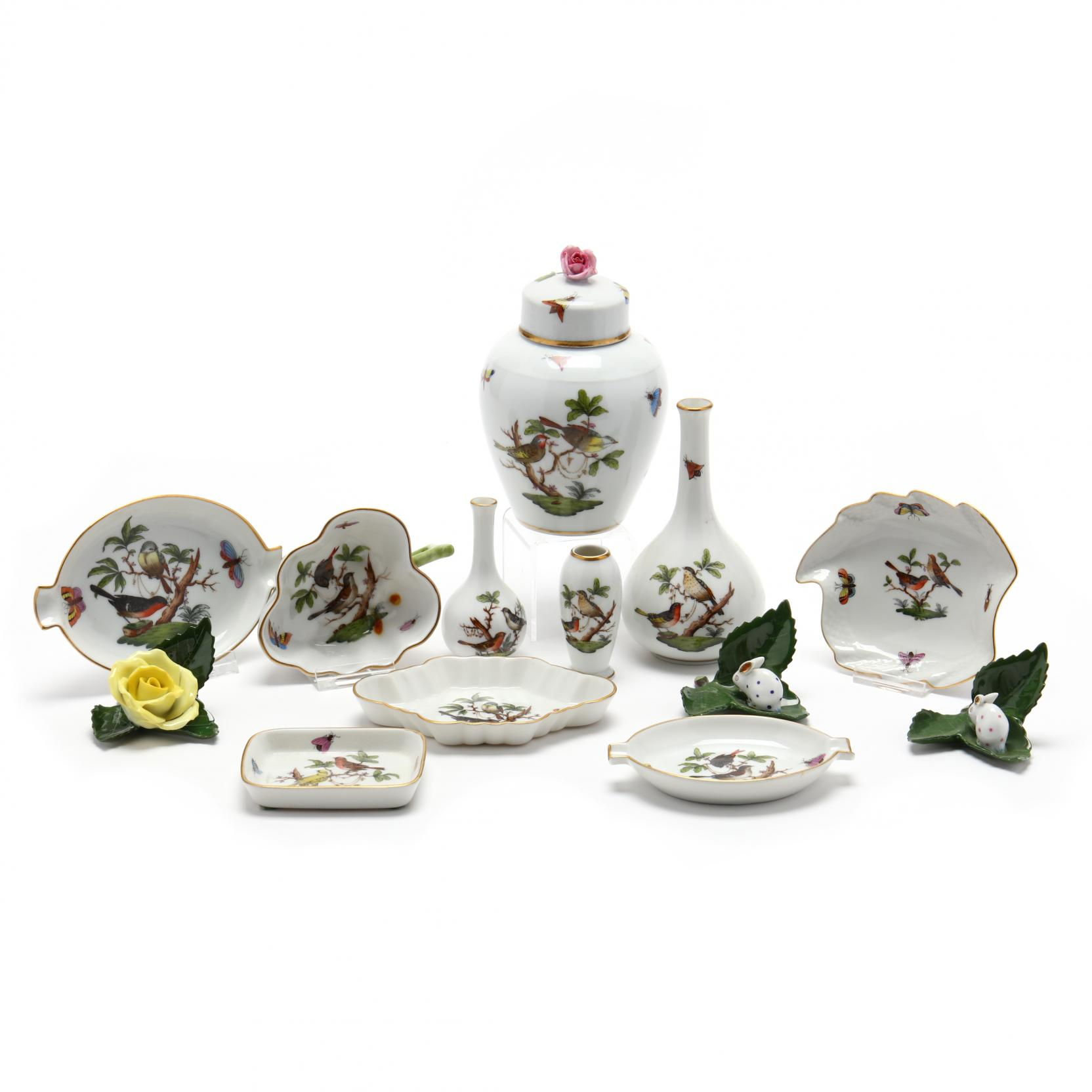 a-collection-of-herend-porcelain-accessories