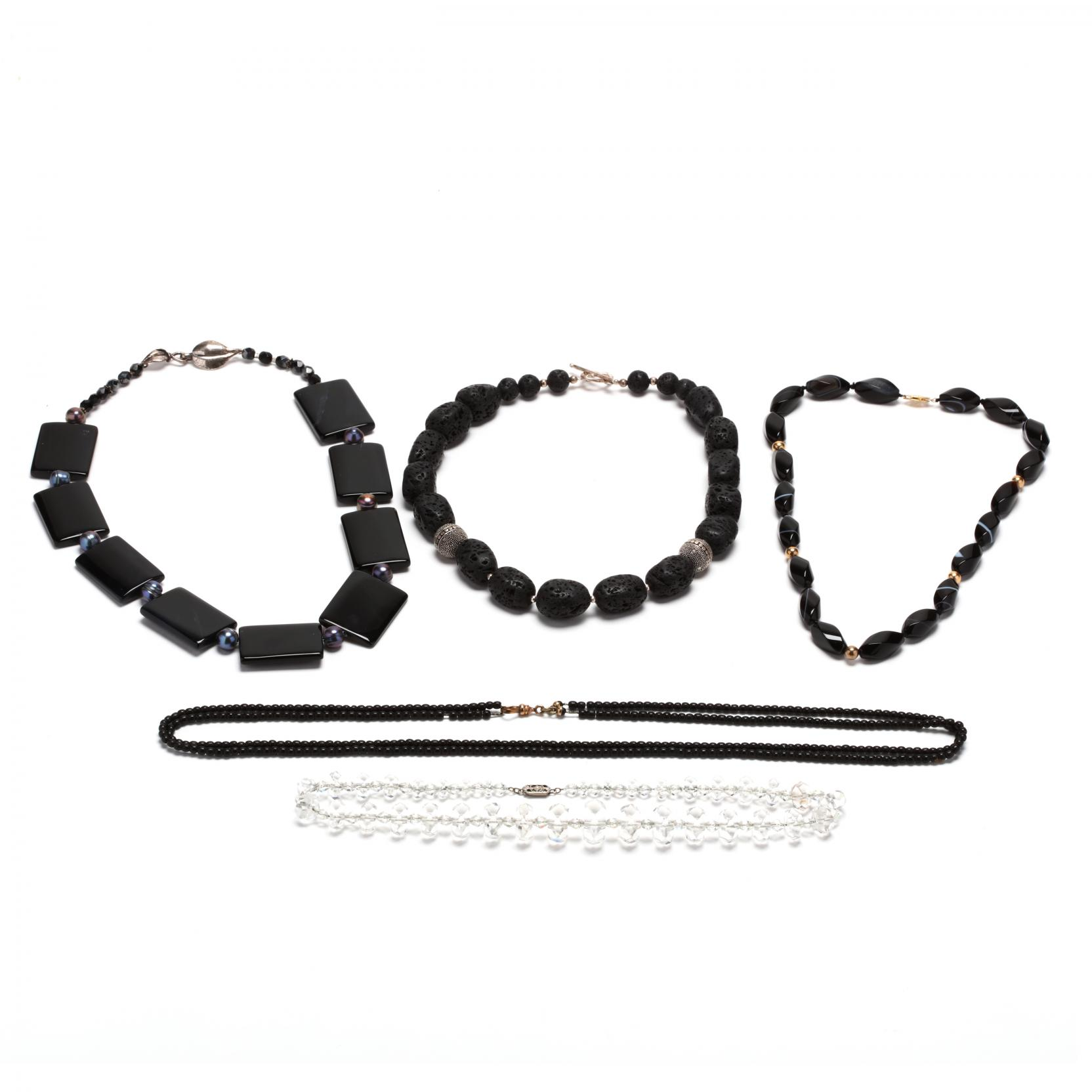 group-of-gemstone-bead-necklaces