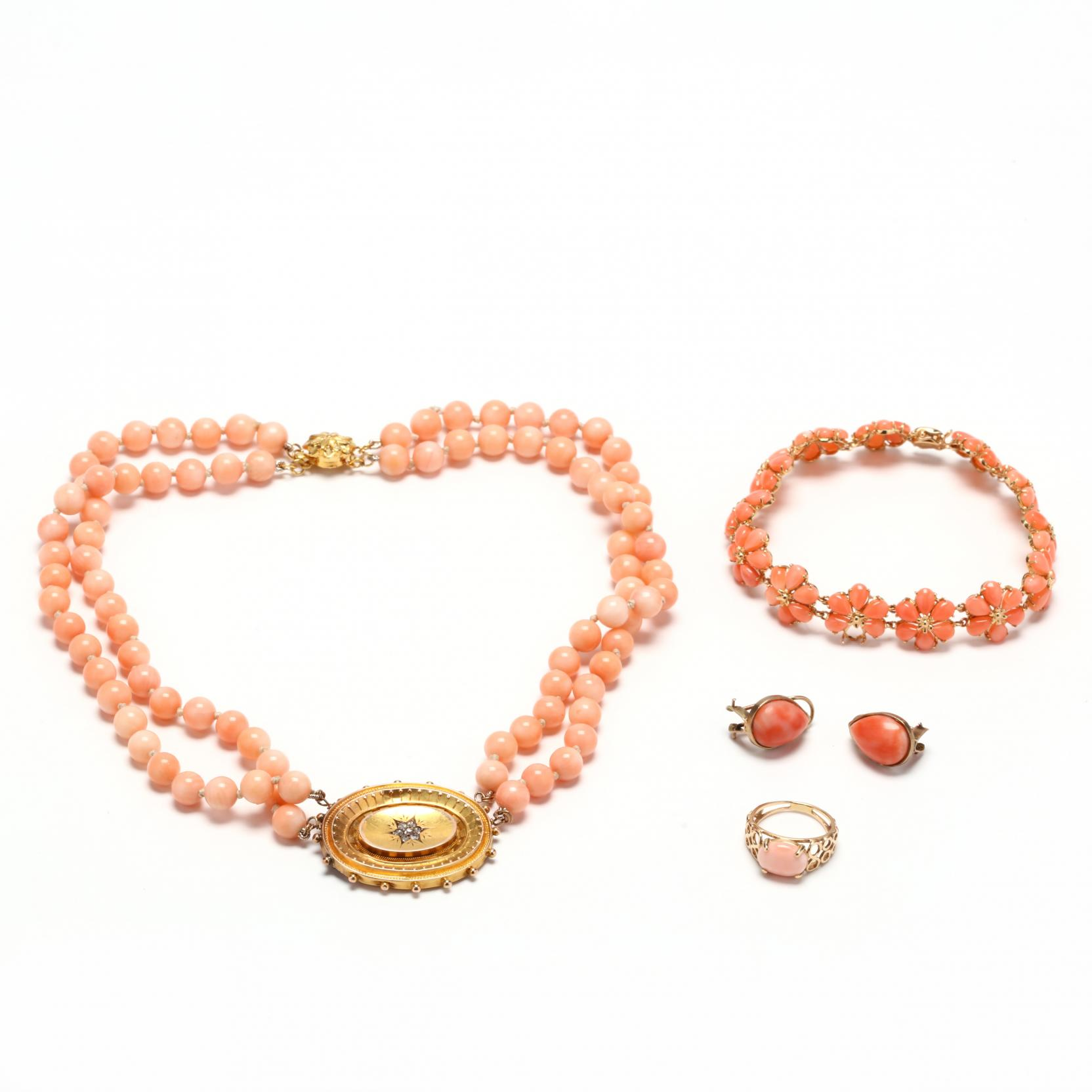 group-of-coral-jewelry-items