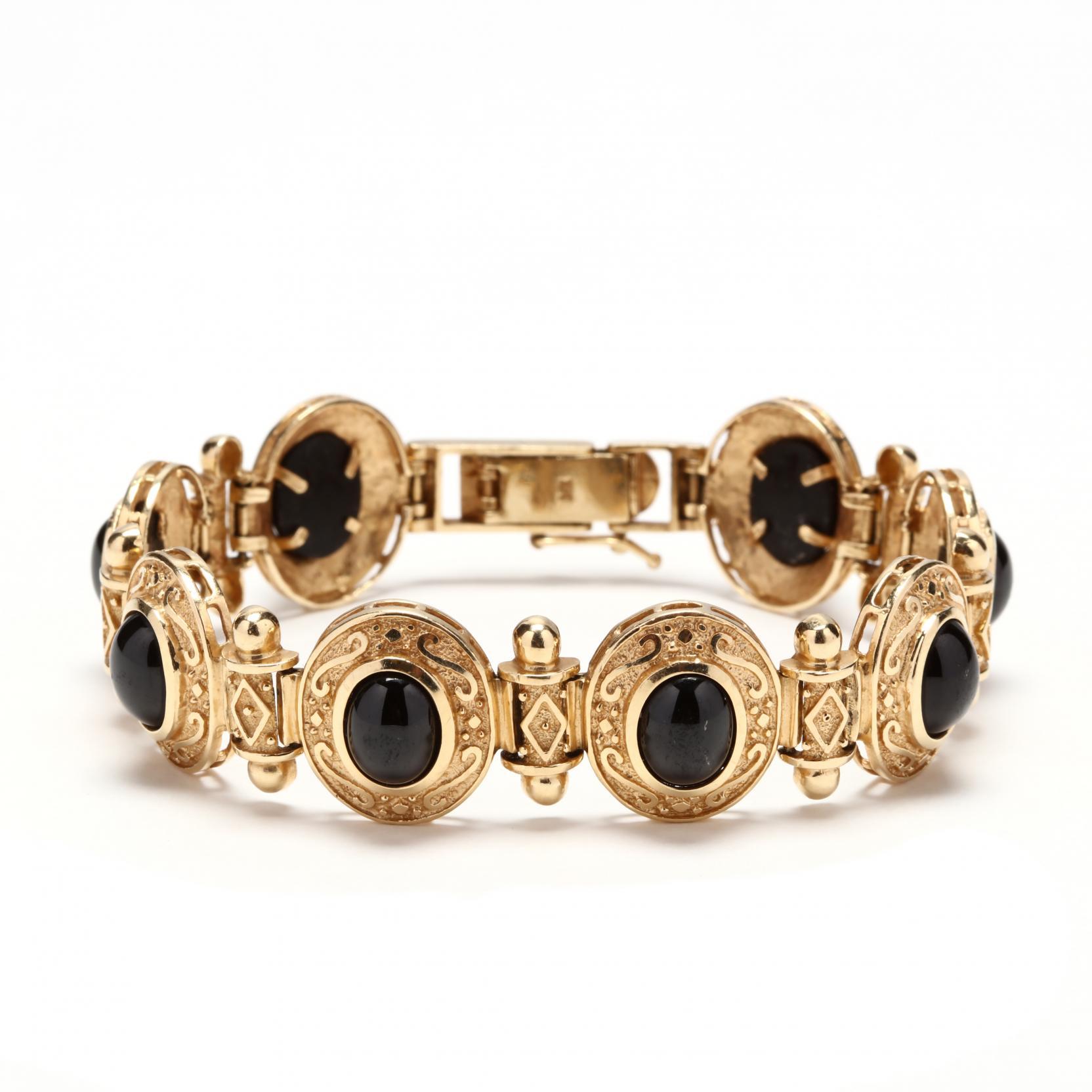 14kt-gold-and-onyx-bracelet