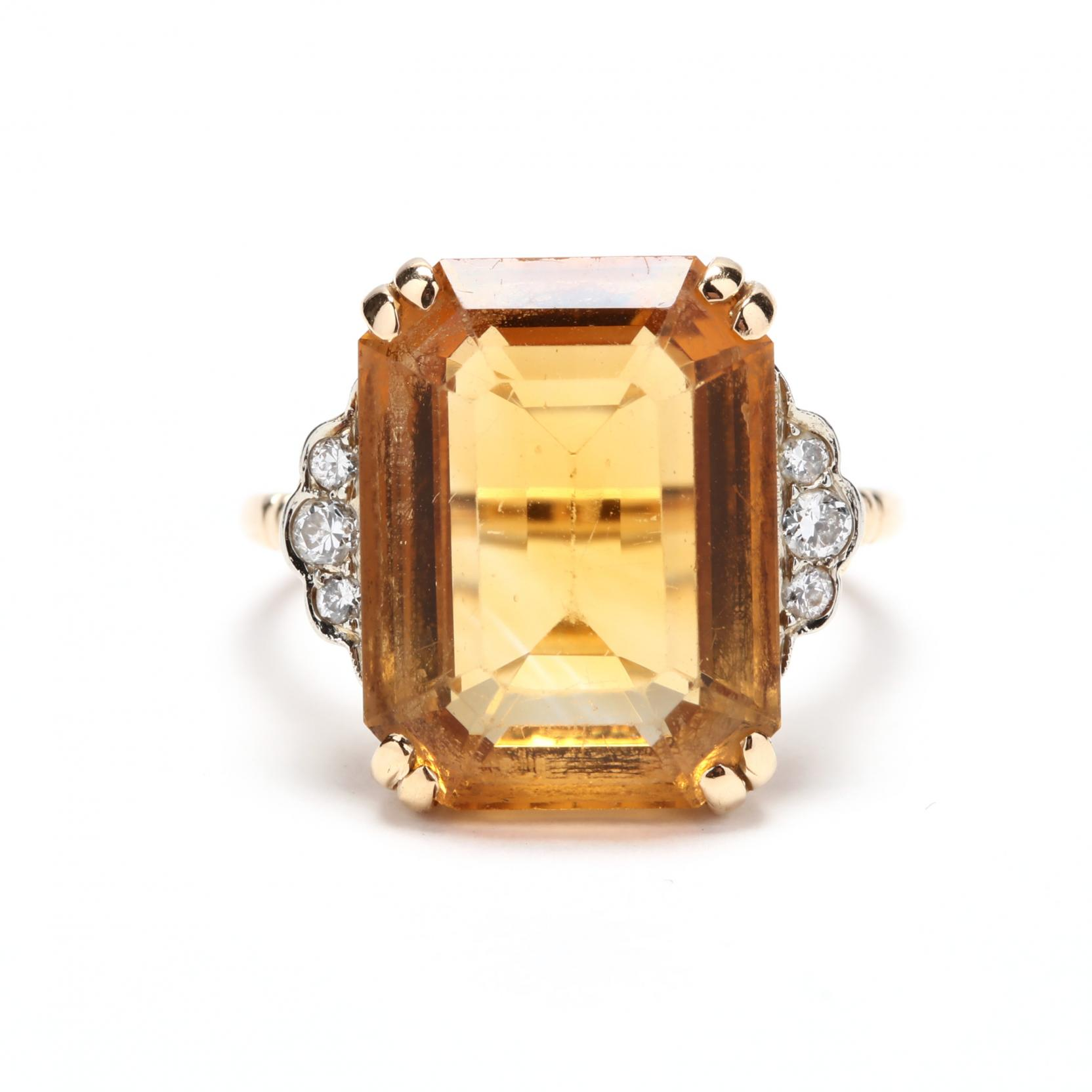 14kt-gold-citrine-and-diamond-ring