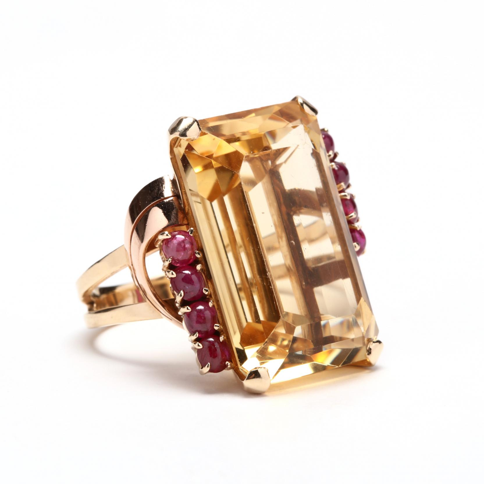 retro-14kt-gold-citrine-and-ruby-ring