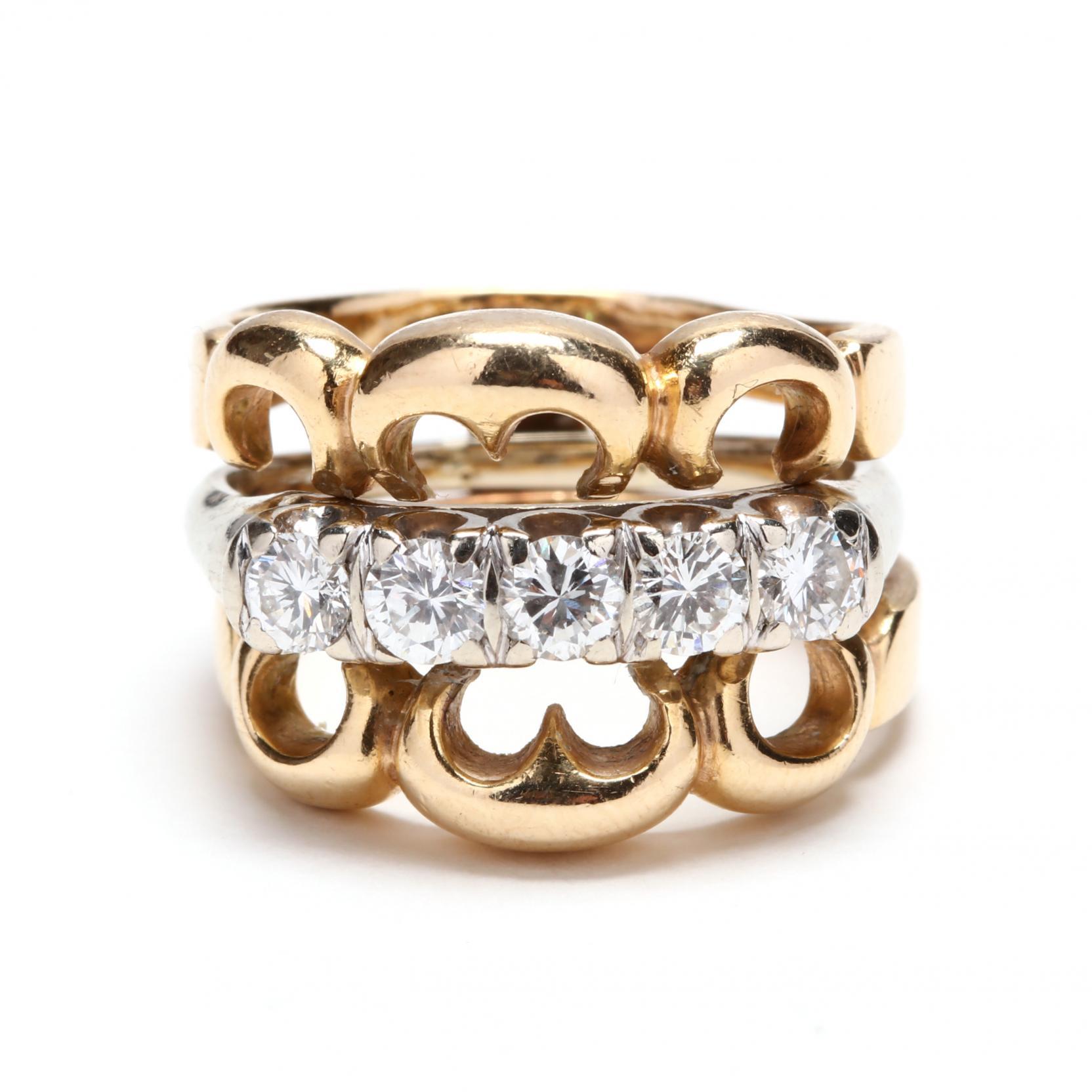 14kt-gold-diamond-ring-set