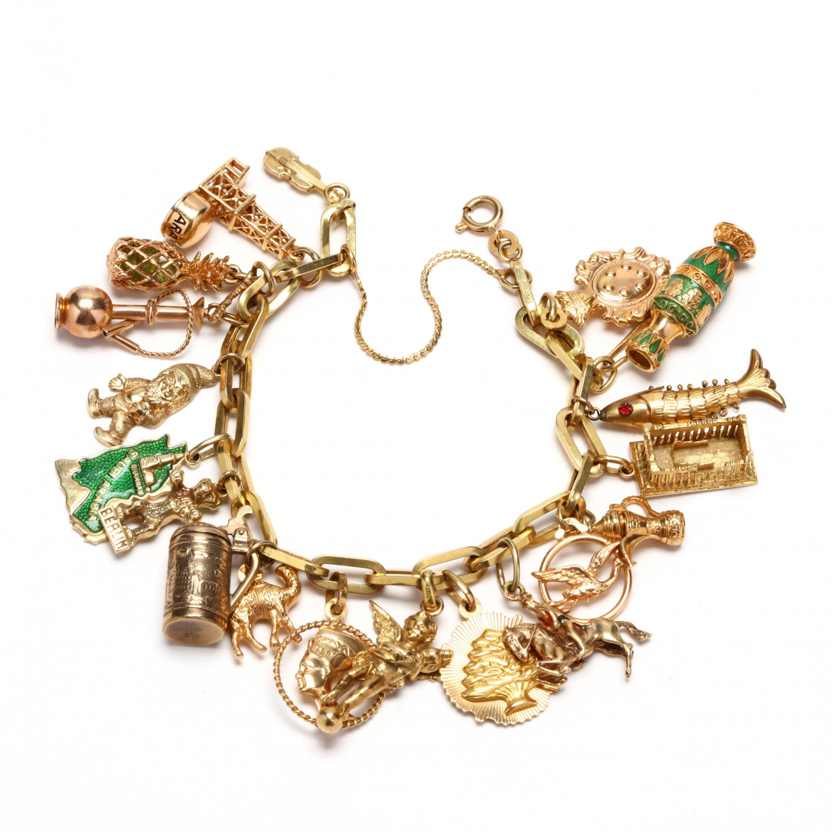 gold-charm-bracelet-with-19-attached-charms