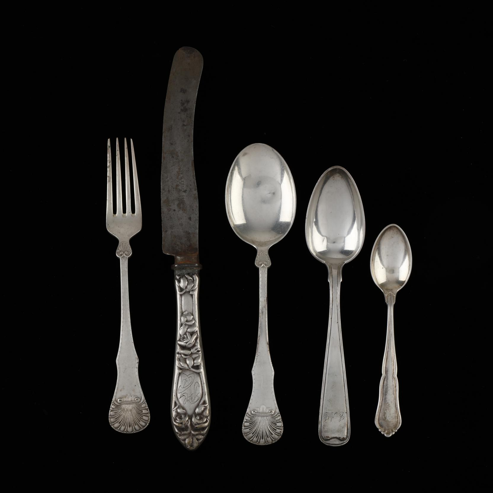 a-collection-of-scandanavian-silver-flatware