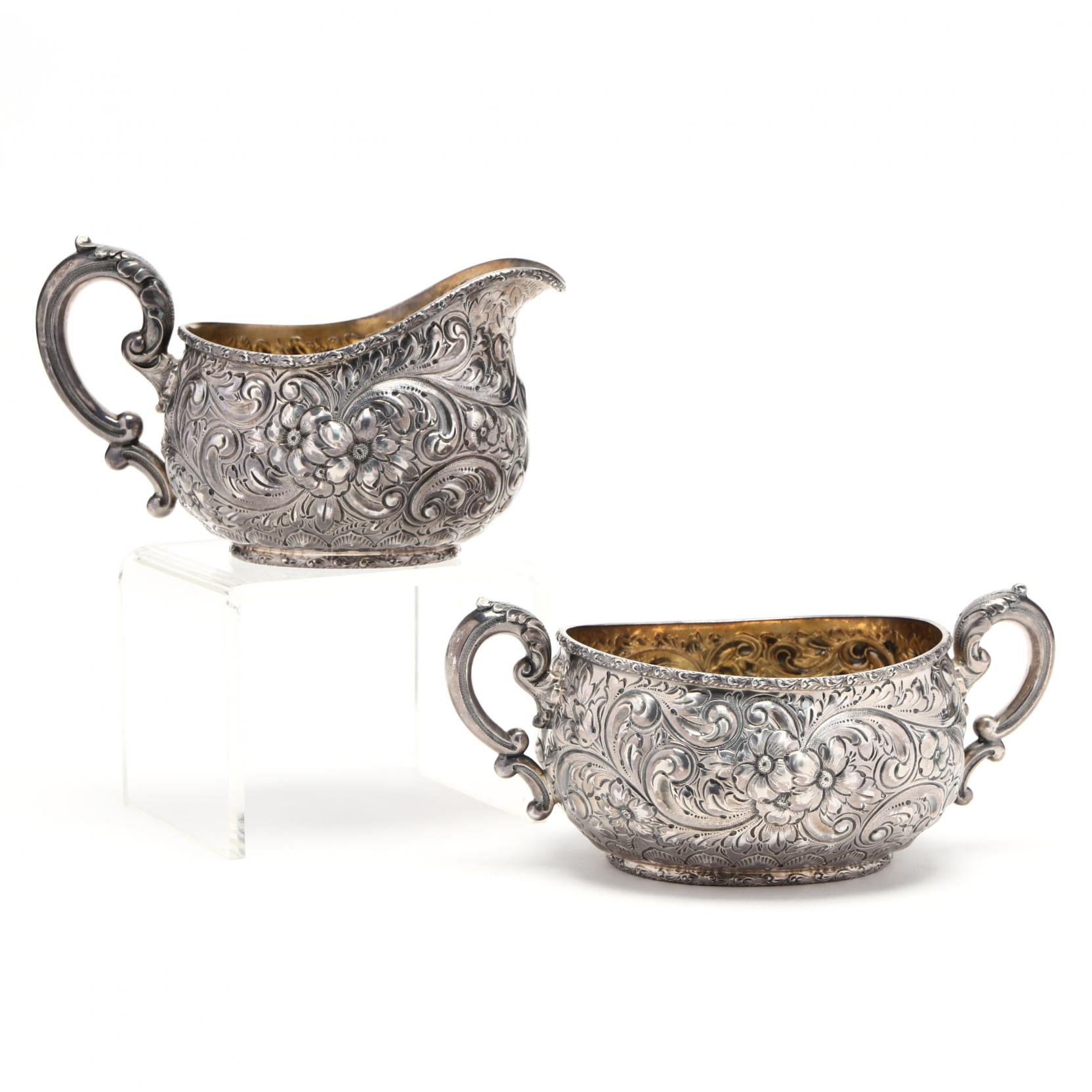 an-antique-dominick-haff-sterling-silver-sugar-creamer-set