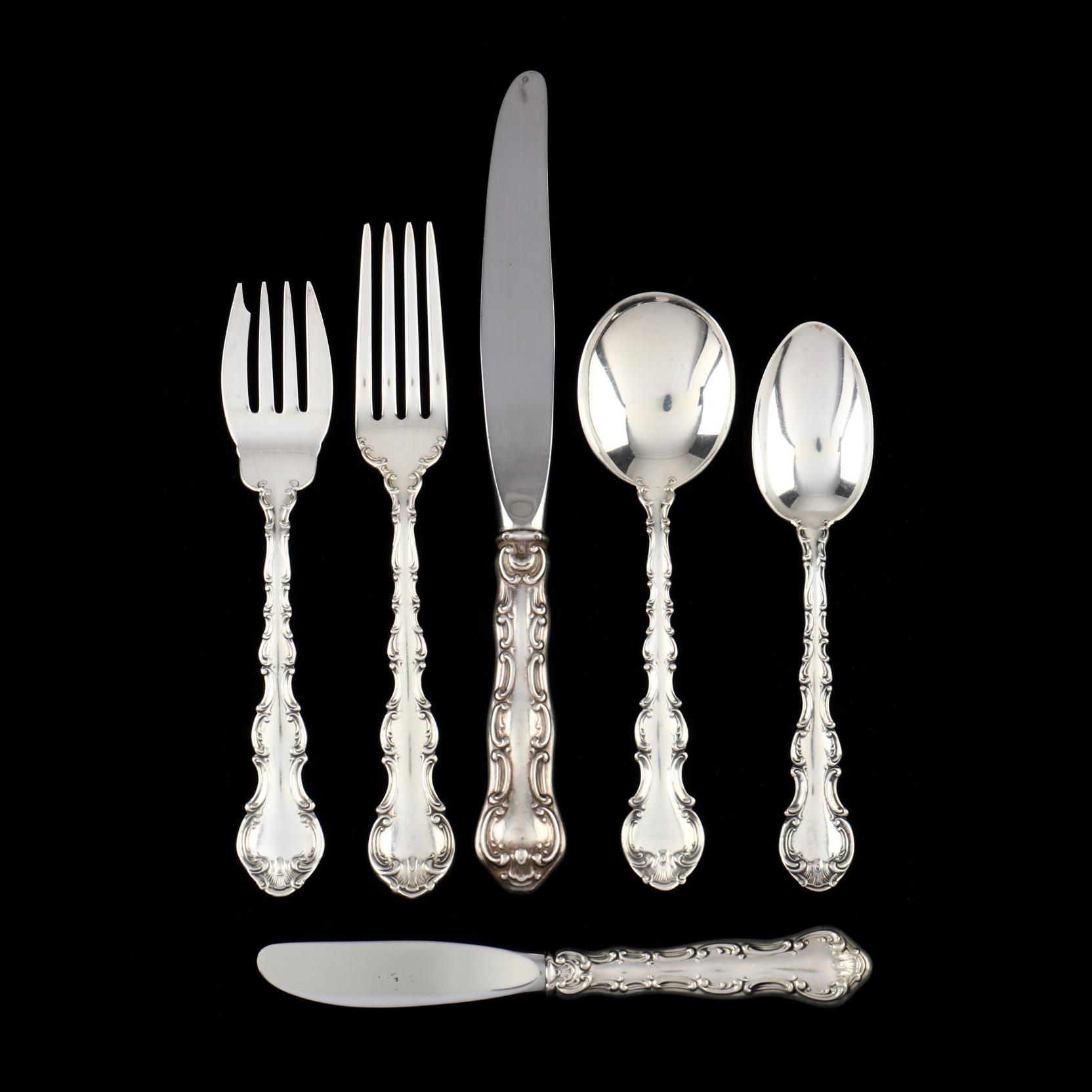 gorham-strasbourg-sterling-silver-flatware-service