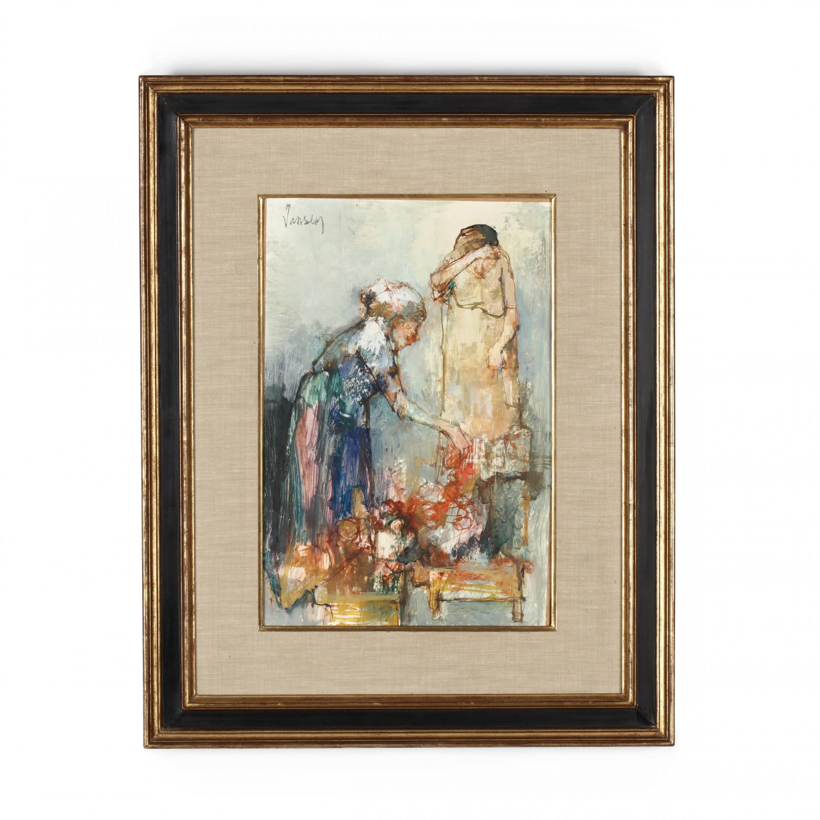 jean-leon-jansen-french-american-b-1920-i-deux-femmes-au-marche-i