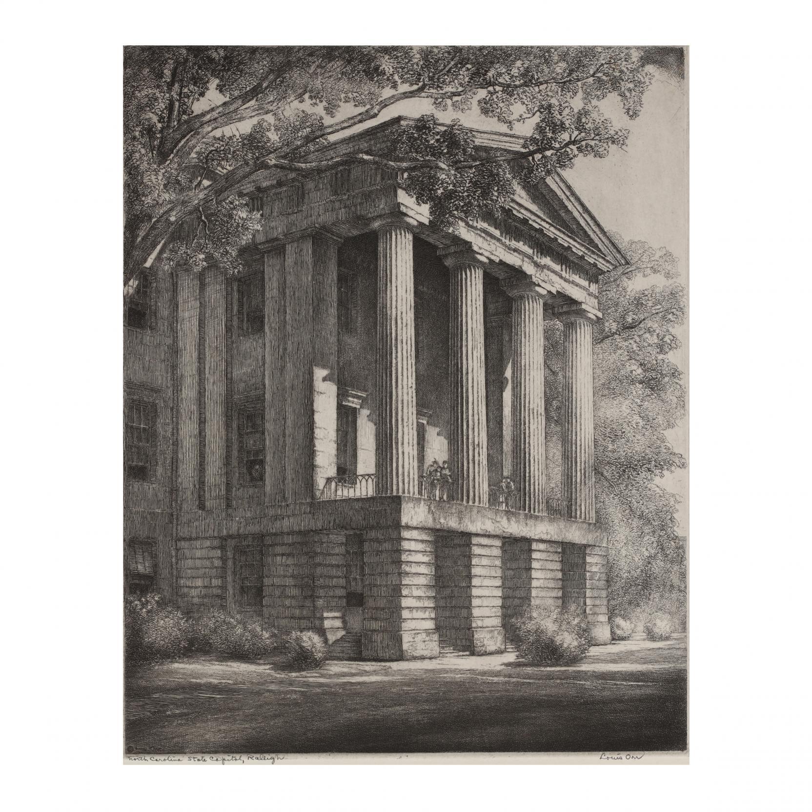 louis-orr-american-1879-1961-i-north-carolina-state-capitol-west-porch-raleigh-north-carolina-i