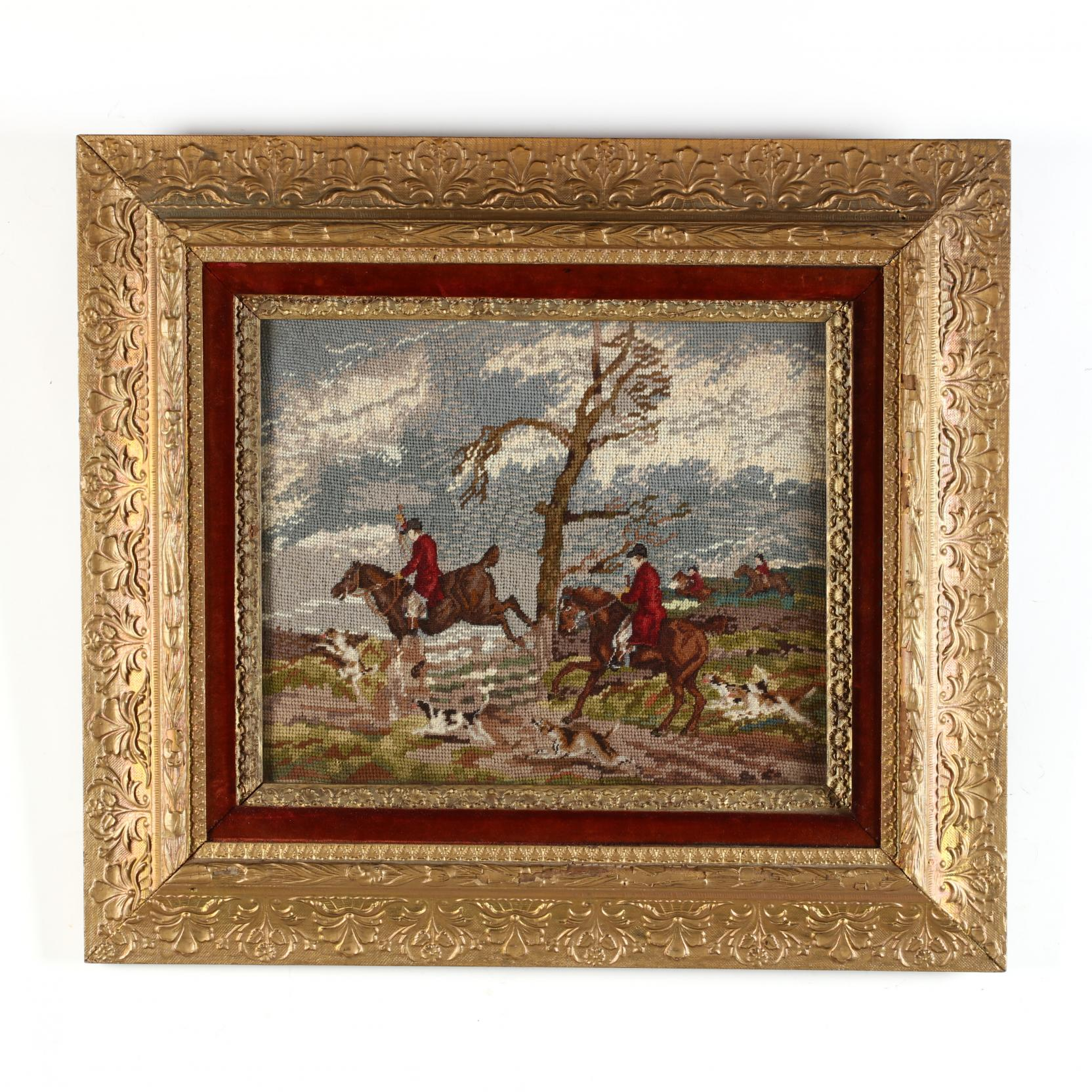 vintage-equestrian-theme-pictorial-needlework