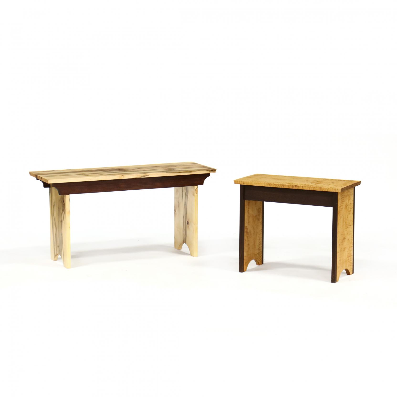 two-robert-wagner-nc-maple-benches